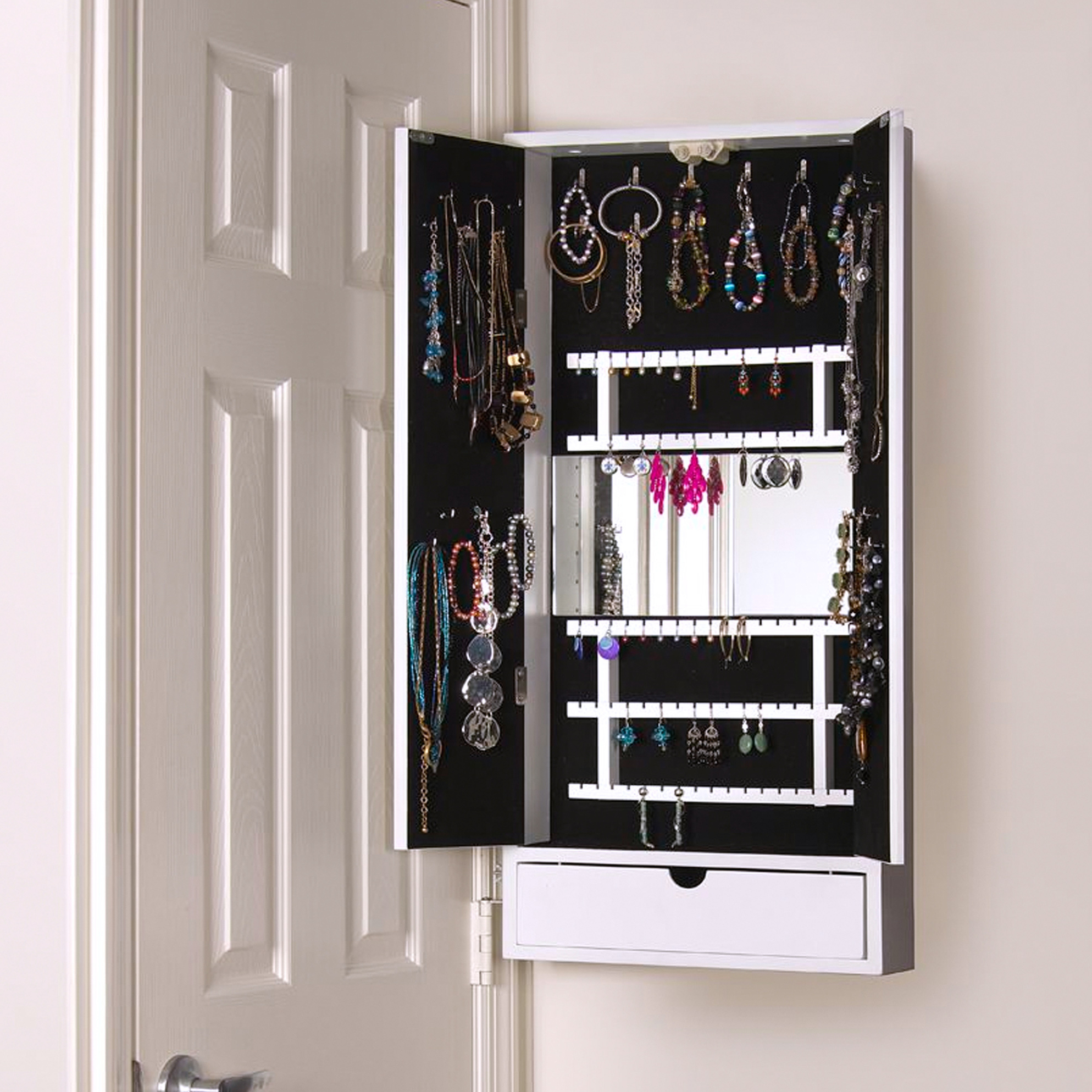 19 Jewelry Cabinets Wall Mounted, Impeccable Mirrored Wall For Well Known Jewelry Box Wall Mirrors (View 1 of 20)