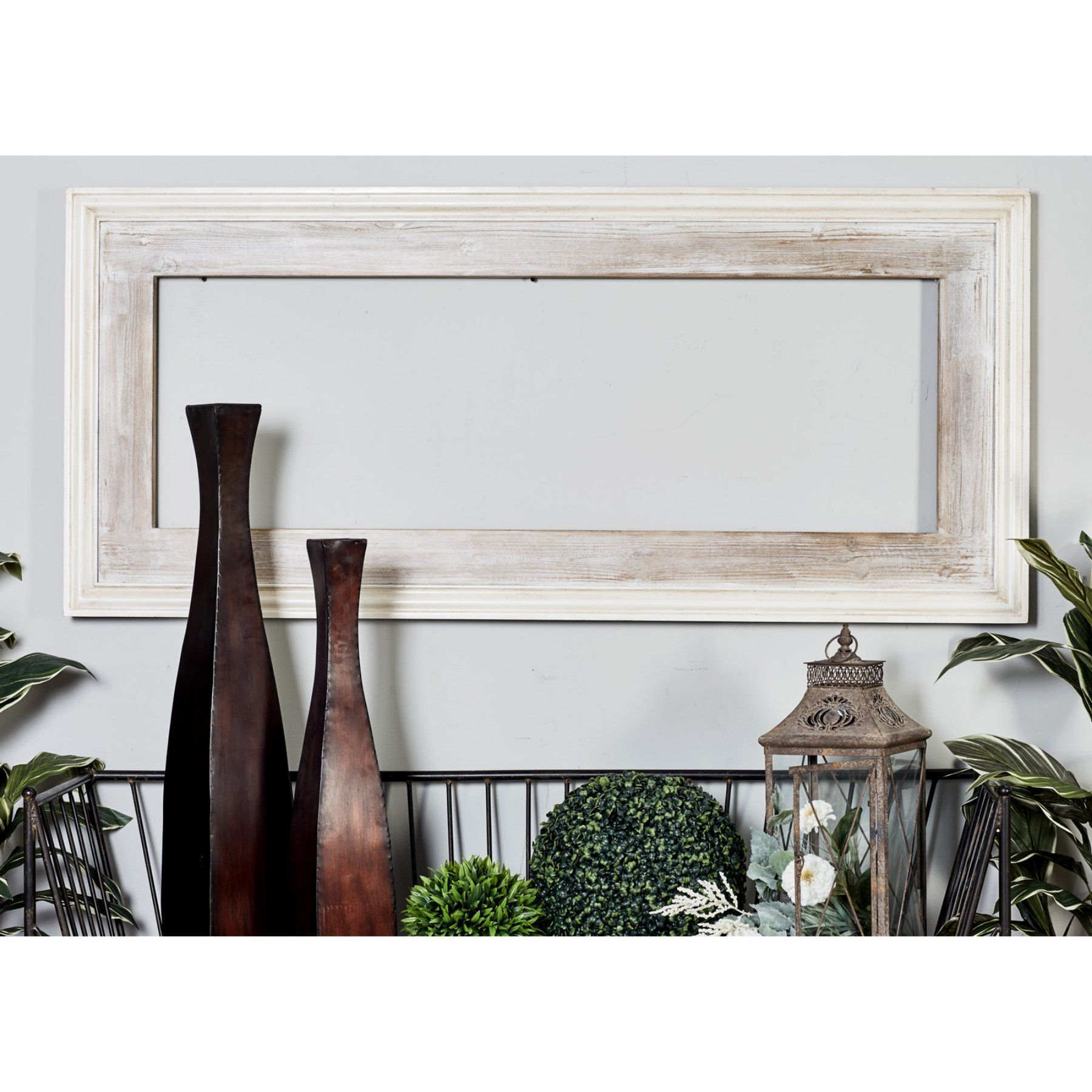 2 Piece Priscilla Square Traditional Beveled Distressed Accent Mirror Sets Inside Famous Decmode Wooden Rectangular Beveled Wall Mirror – 30W X 67H In (Gallery 16 of 20)