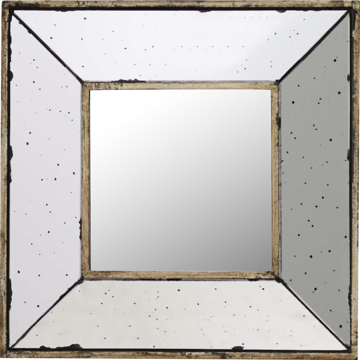 2 Piece Priscilla Square Traditional Beveled Distressed Accent Mirror Sets Pertaining To 2020 Lark Manor Traditional Square Glass Wall Mirror (Gallery 20 of 20)