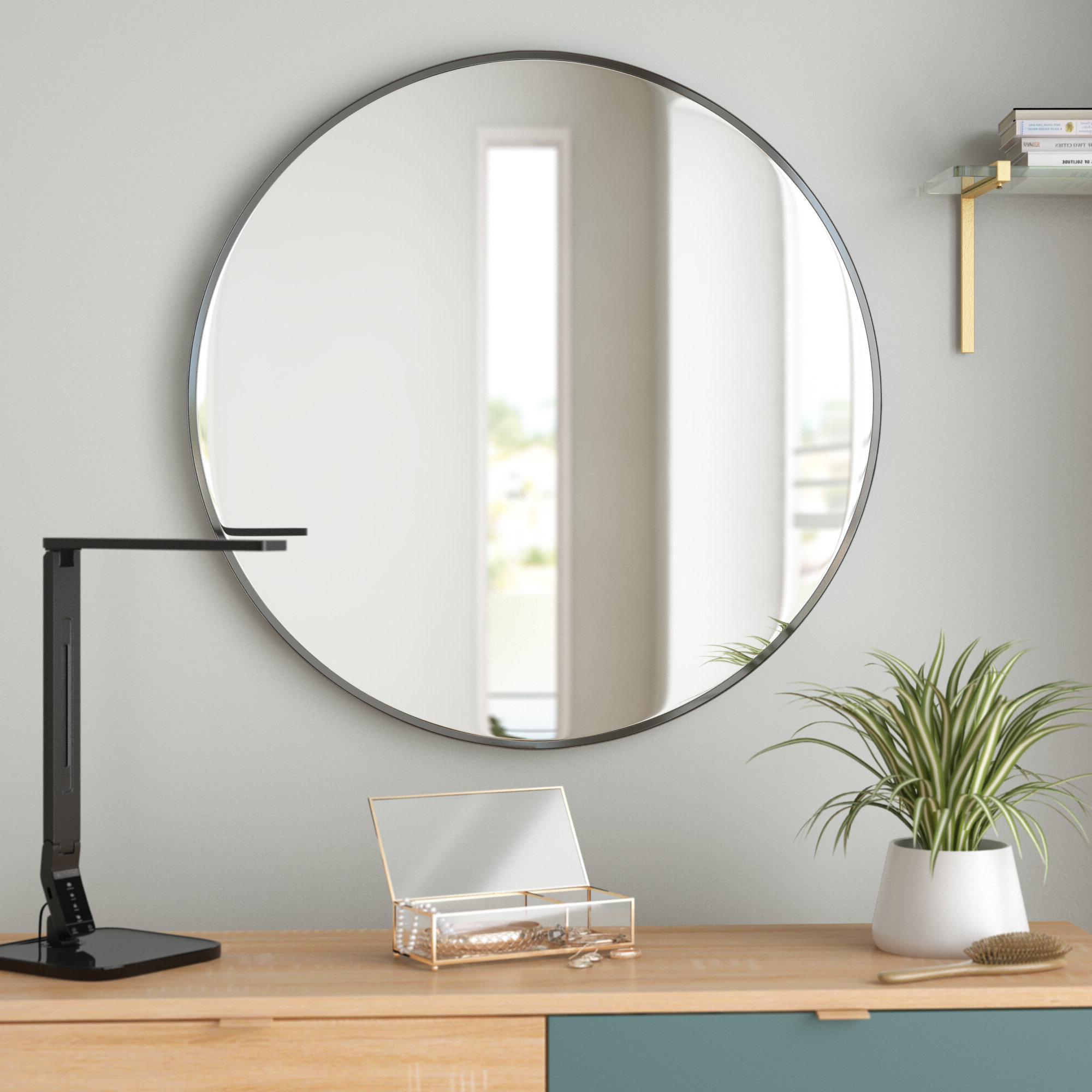 2 Piece Priscilla Square Traditional Beveled Distressed Accent Mirror Sets With Regard To Well Known Birch Lane Heritage Wells Industrial Accent Mirror In (View 5 of 20)