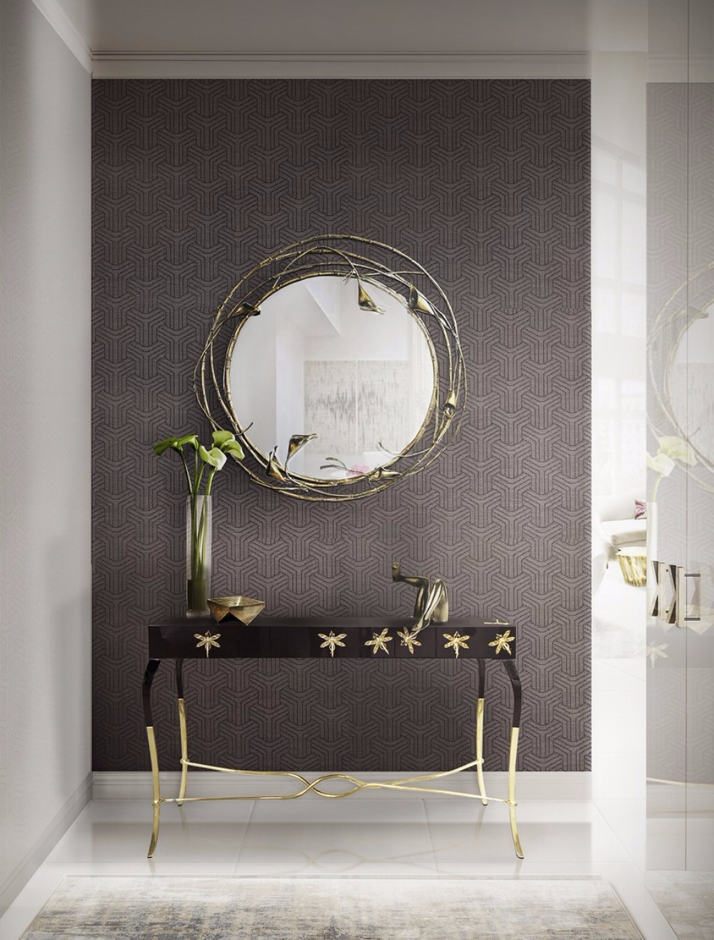 20 Exquisite Wall Mirror Designs For Your Living Room Regarding Trendy Mirrored Wall Mirrors (View 1 of 20)