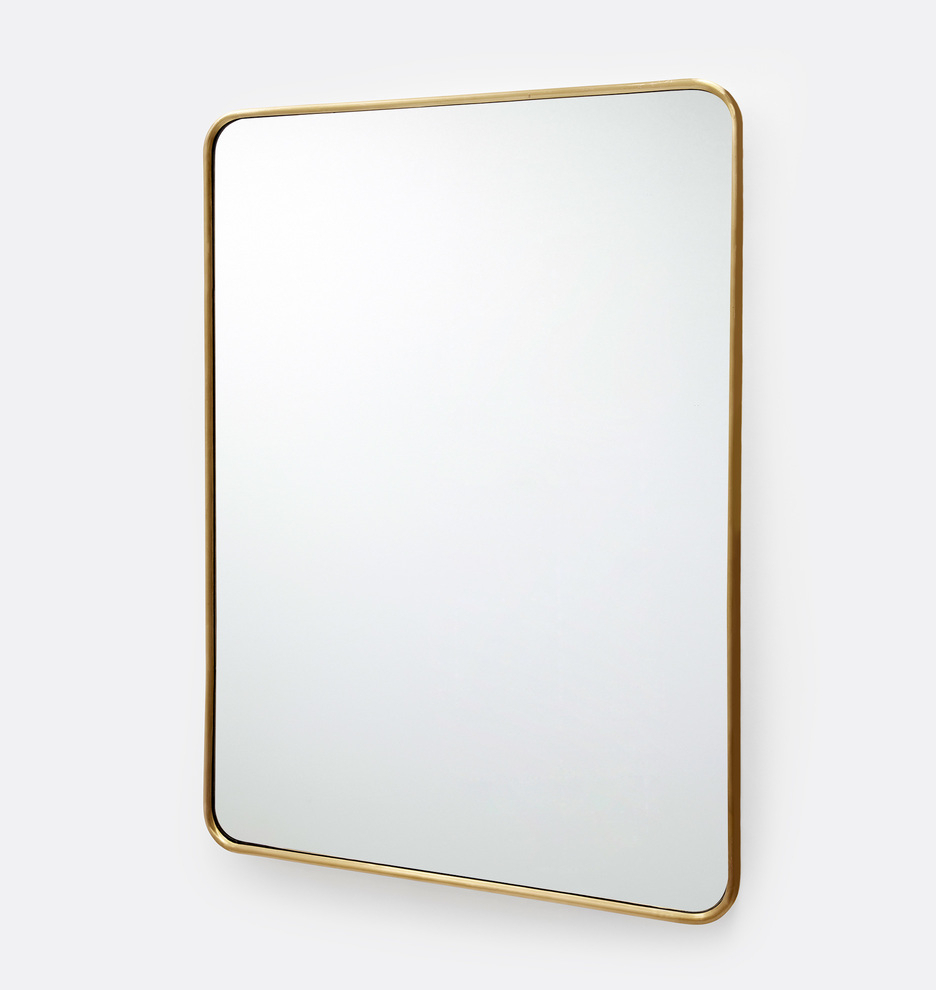 """20"""" X 30"""" Rounded Rectangle Metal Framed Mirror Within Popular Rectangle Antique Galvanized Metal Accent Mirrors (View 16 of 20)"""