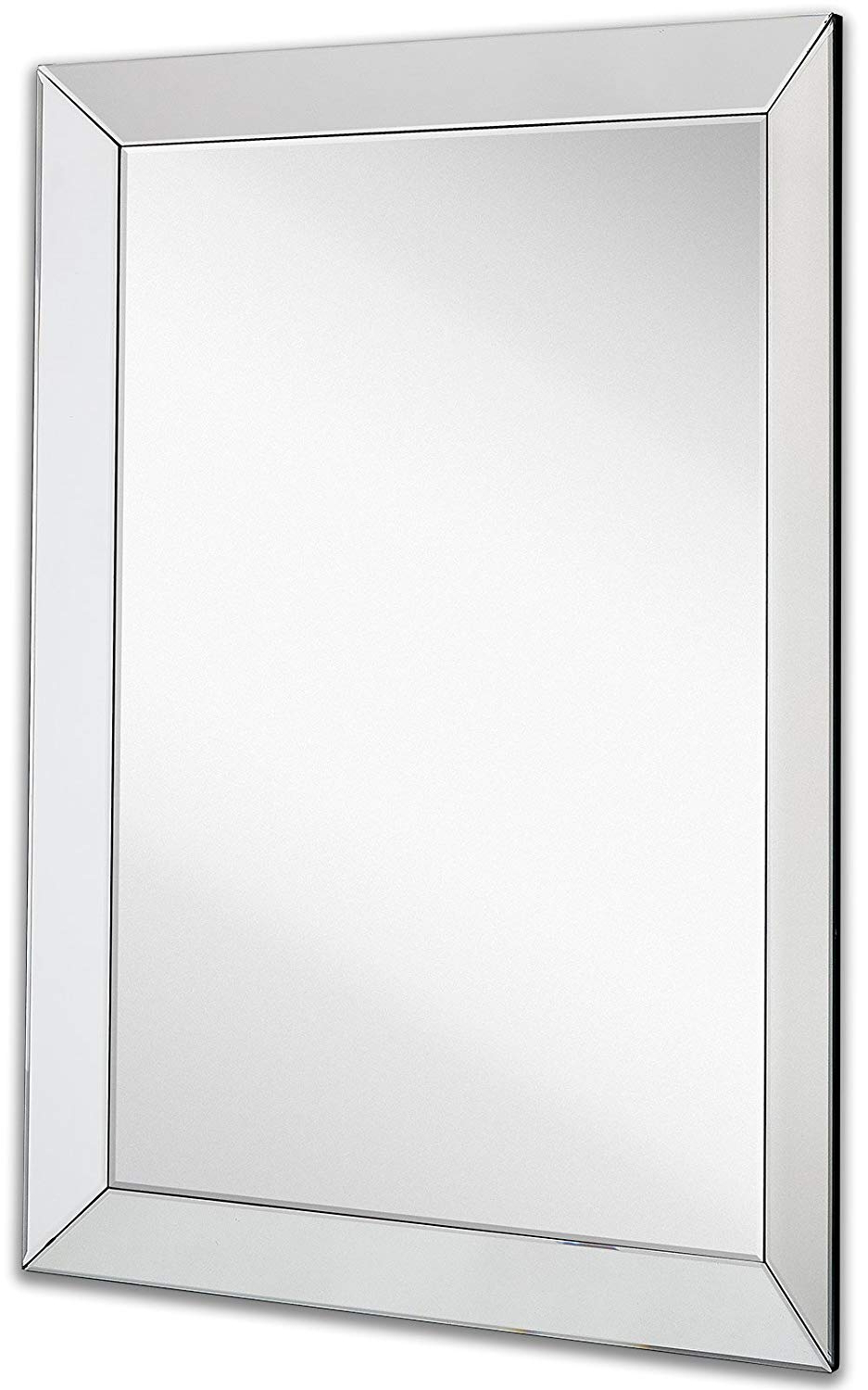 2019 Angled Wall Mirrors With Large Framed Wall Mirror With 3 Inch Angled Beveled Mirror Frame (Gallery 1 of 20)