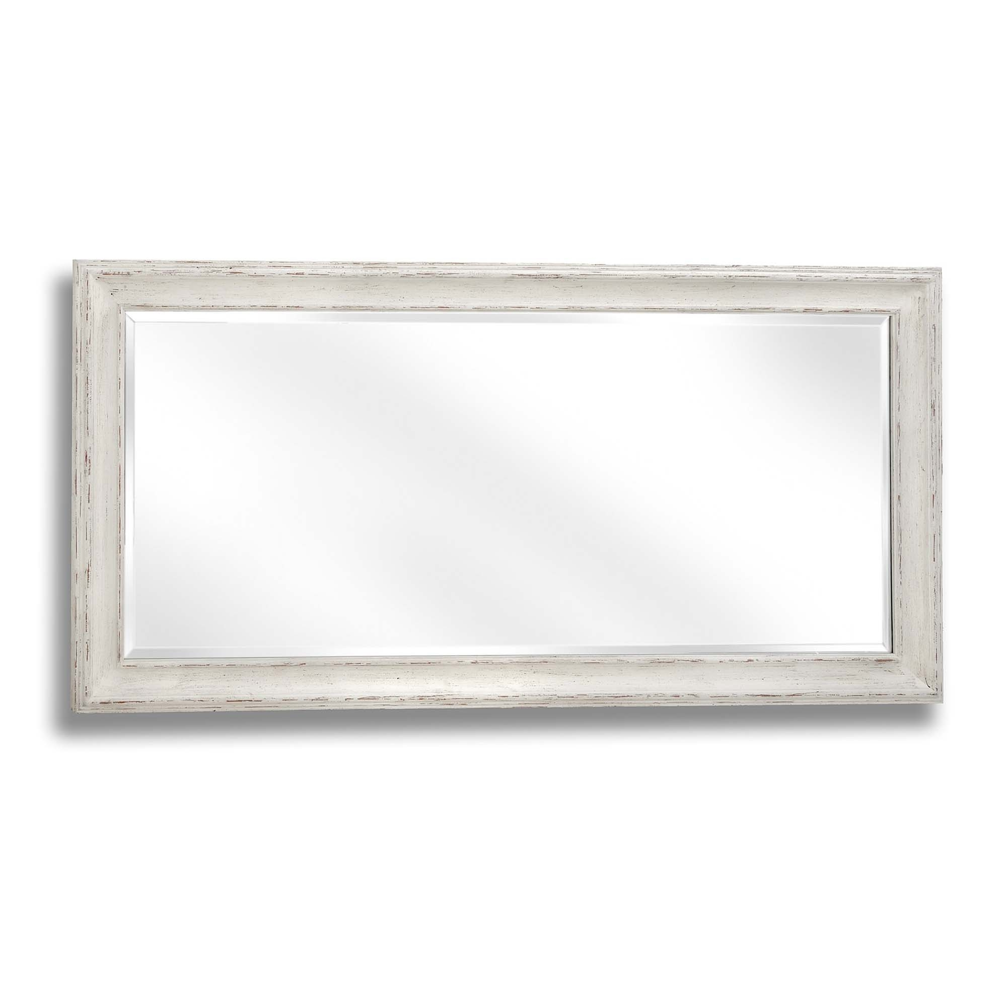 2019 Antique White Large Rectangular Wall Mirror With Antique White Wall Mirrors (Gallery 20 of 20)