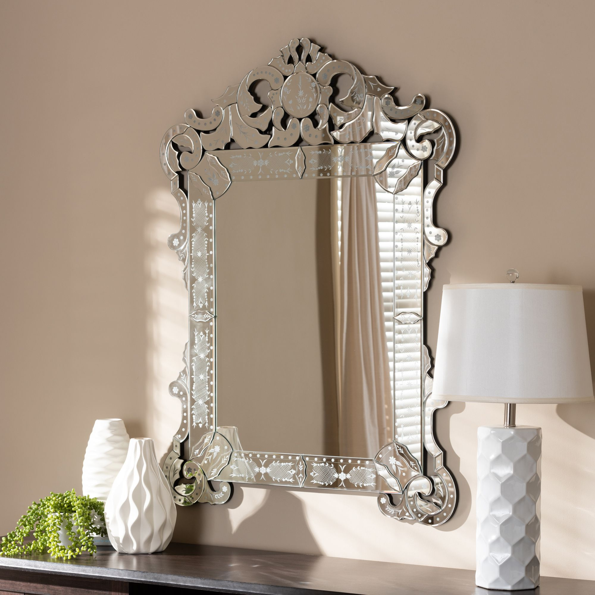 2019 Baxton Studio Floriana Classic And Traditional Silver Finished In Traditional Accent Mirrors (View 20 of 20)