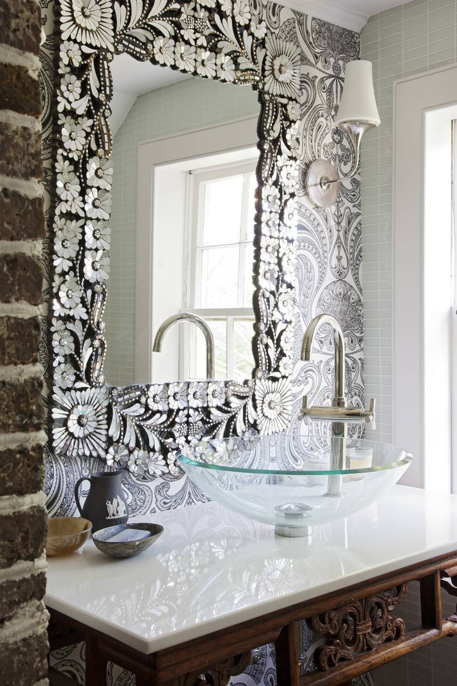 2019 Beautiful Wall Mirrors Regarding Silver Bathroom Wall Decor Beautiful 15 Inspirations Of Long Silver (View 18 of 20)
