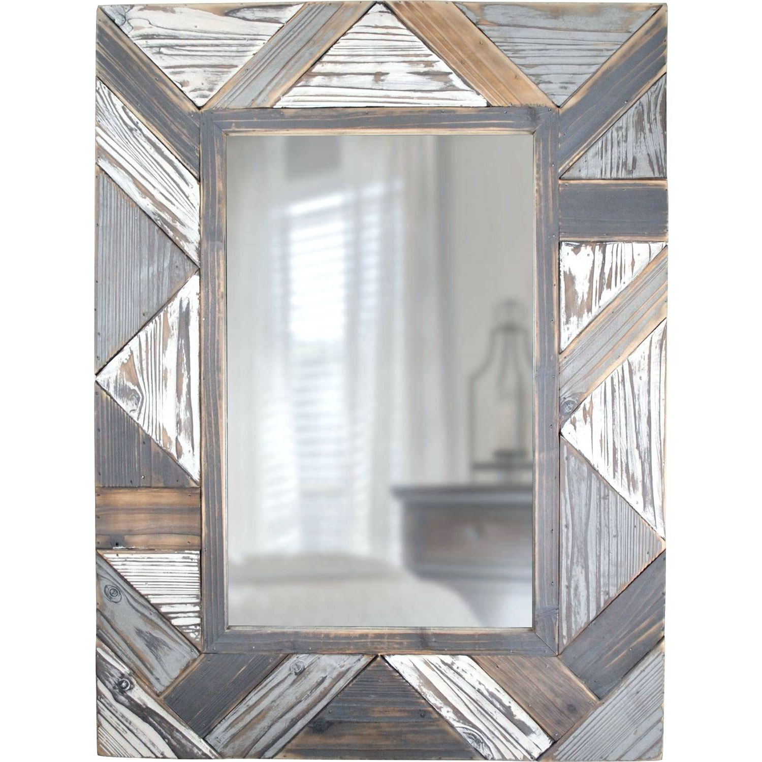 2019 Booth Reclaimed Wall Mirrors Accent Inside Gray Wood Wall Mirror – Fefisbaby (View 20 of 20)