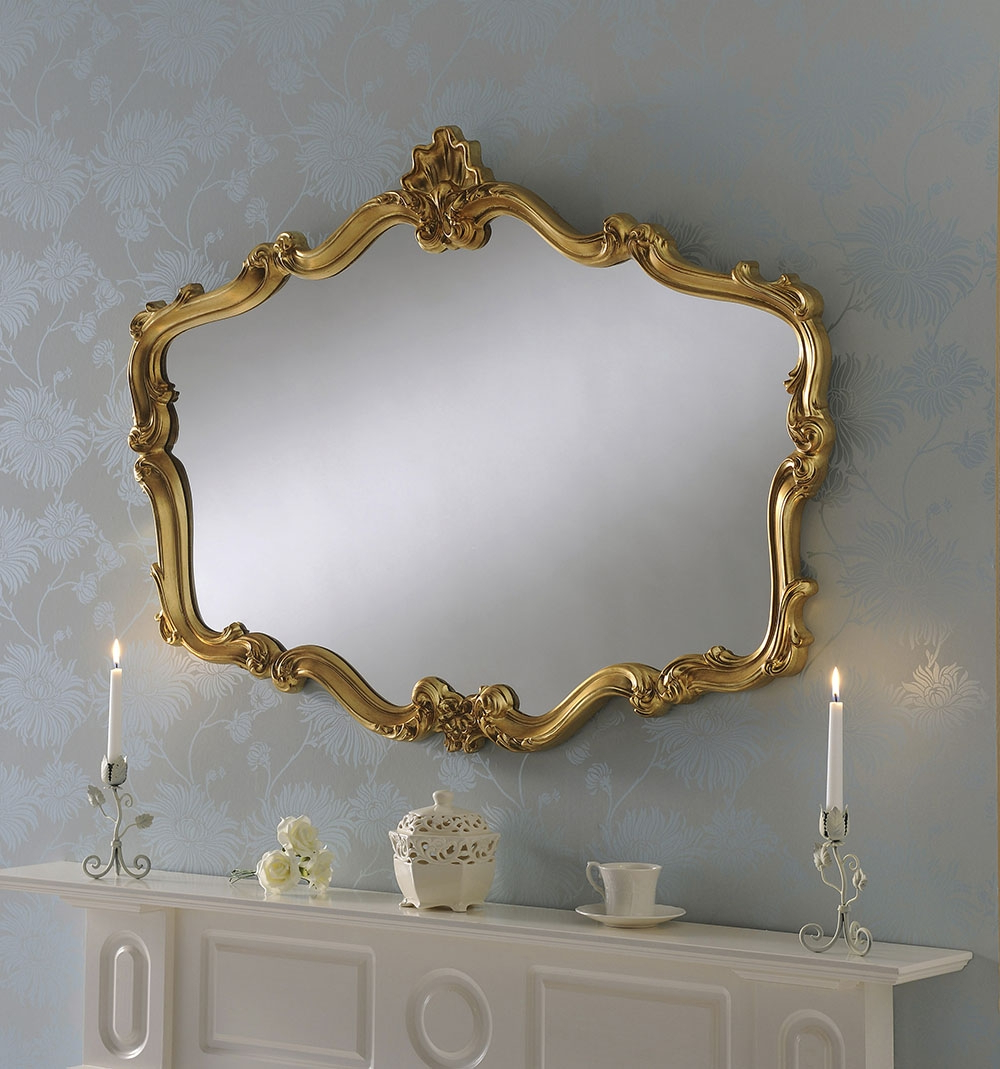 2019 Crested Shaped Large Decorative Wall Mirror With Regard To Large Decorative Wall Mirrors (View 1 of 20)