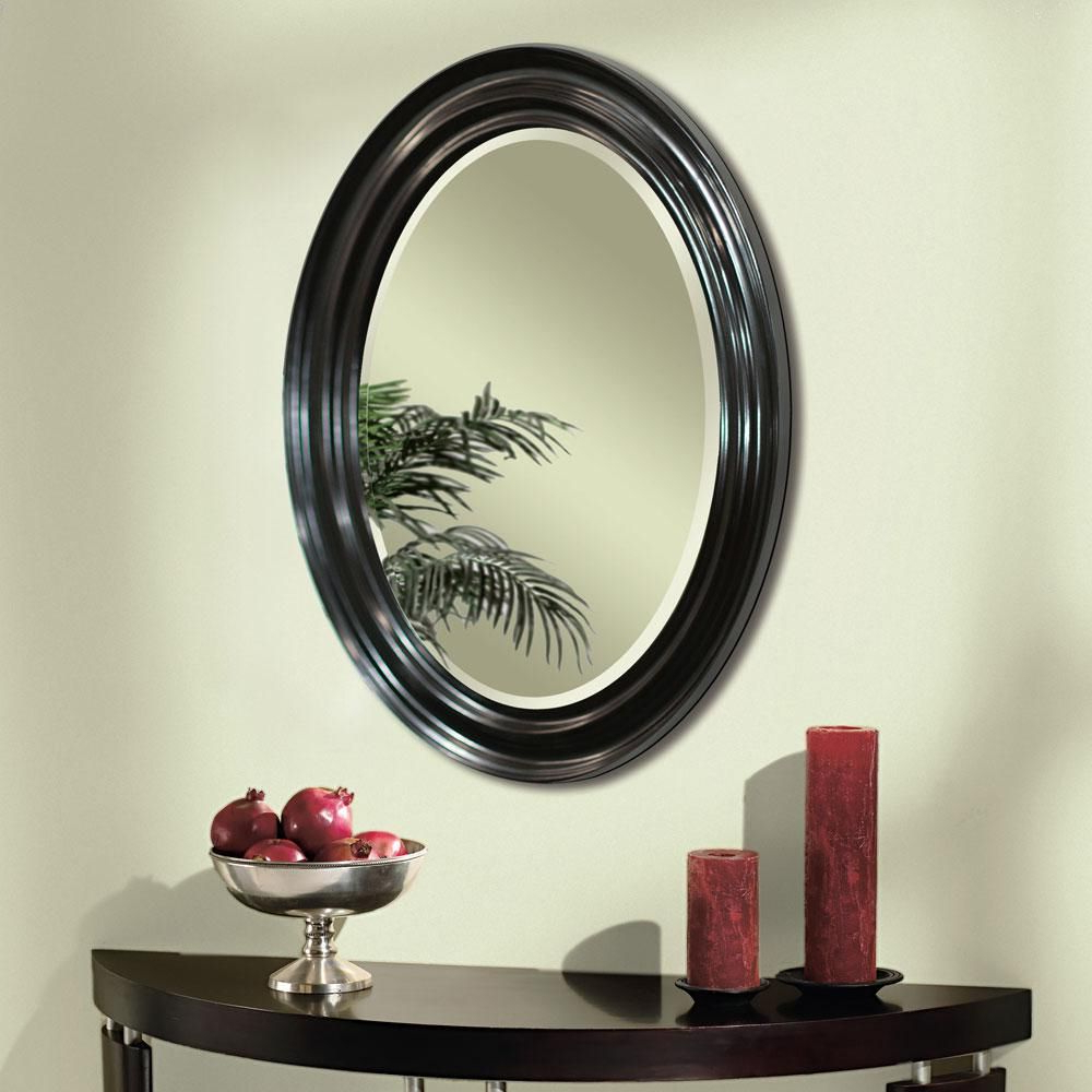 2019 Espresso Oval Wall Mirror (8666) (View 19 of 20)