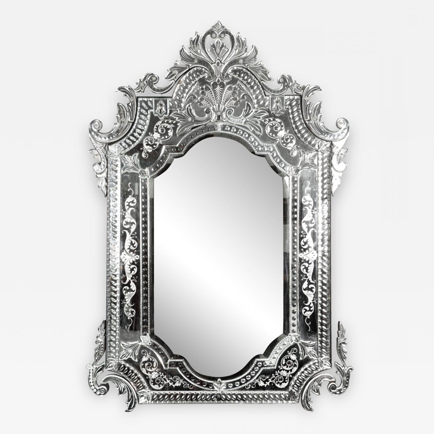 2019 Etched Wall Mirrors In Large Etched Glass Framed Venetian Hanging Wall Mirror (View 10 of 20)