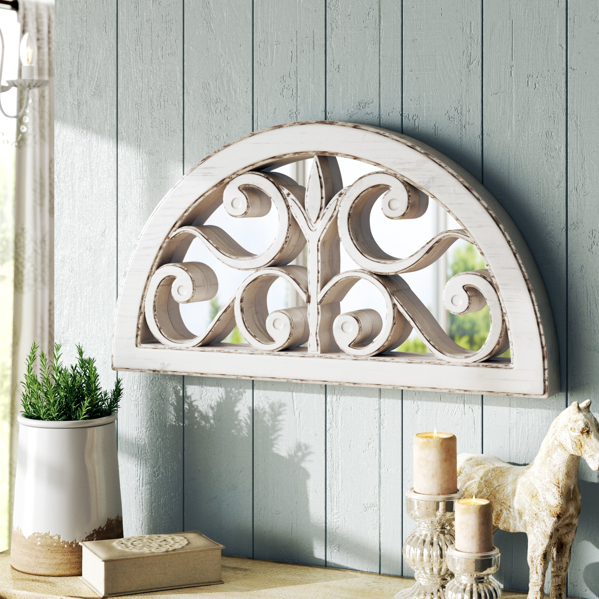 2019 Fabrizio Accent Mirror With Polen Traditional Wall Mirrors (View 11 of 20)