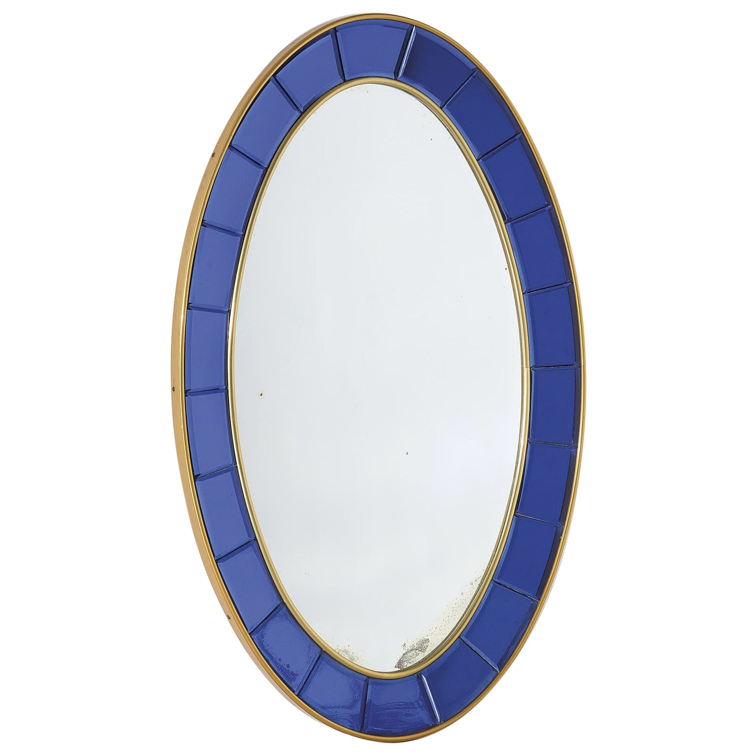 2019 Full Length Oval Wall Mirrors In Full Length 1960s Cristal Arte Blue Model 2727 Oval Wall Mirror, Italian (View 17 of 20)