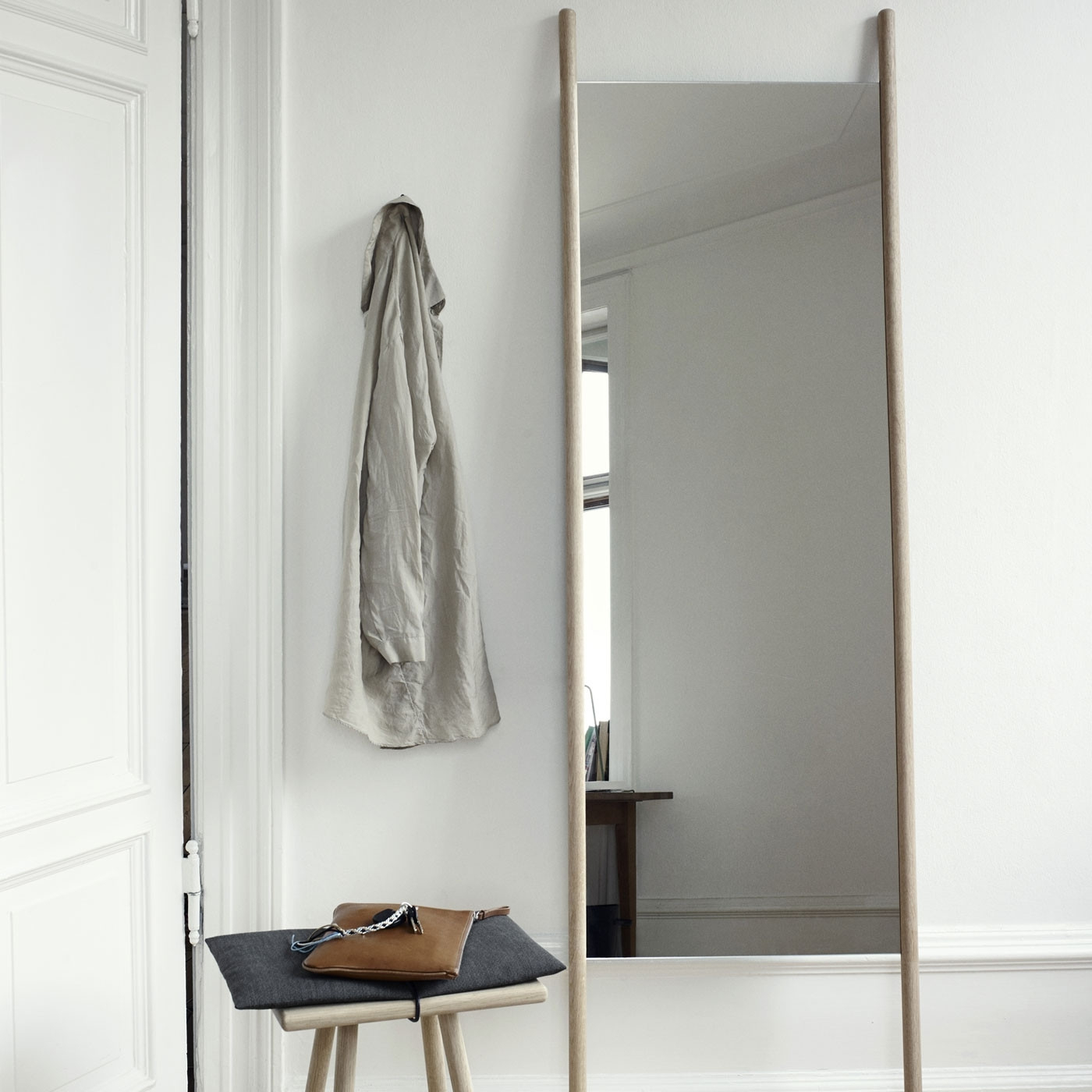 2019 Georg Mirror Leaning Oak With Leaning Mirrors (View 19 of 20)