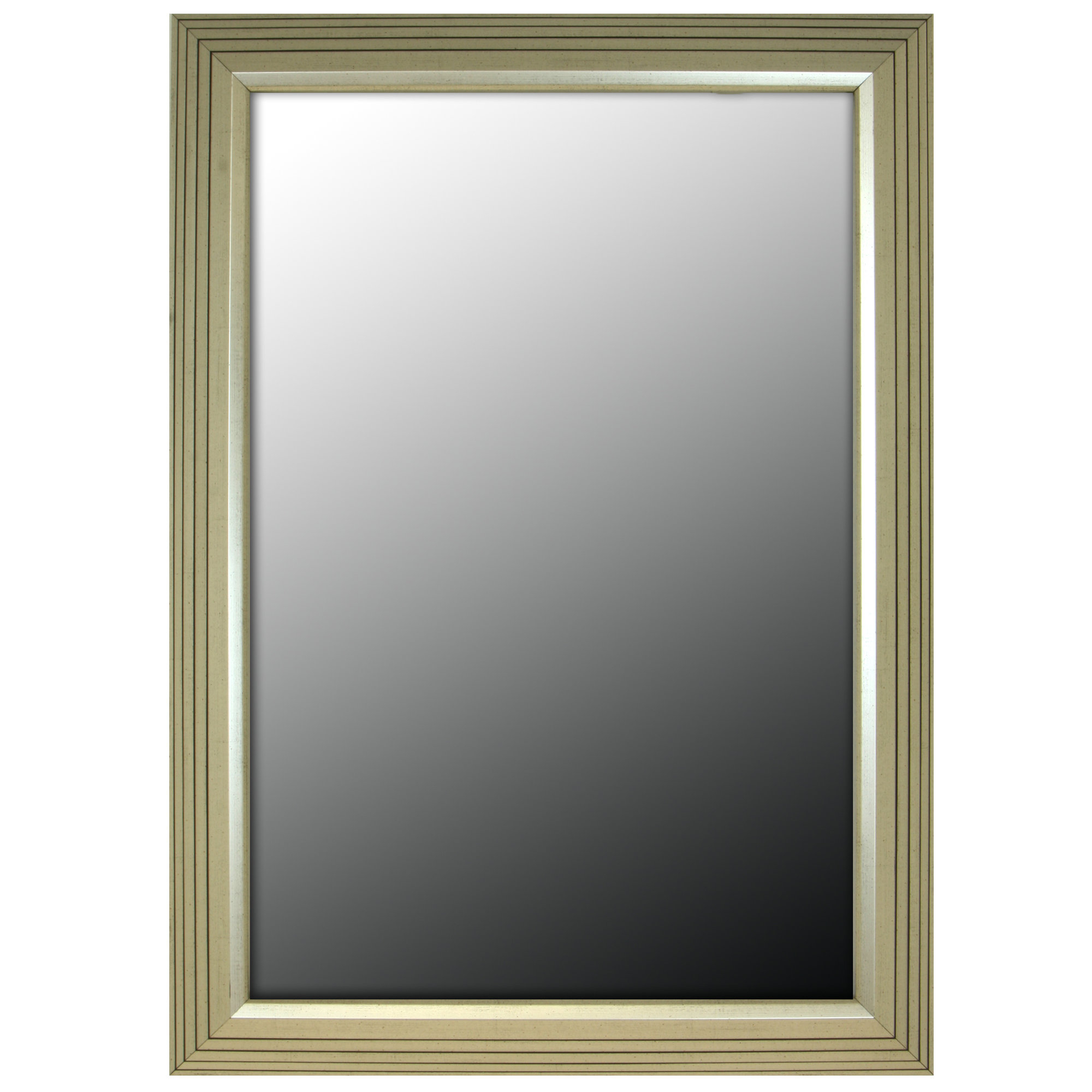 2019 Greenough Stepped Vintage Silver Petite Traditional Wall Mirror In Vintage Wall Mirrors (View 19 of 20)