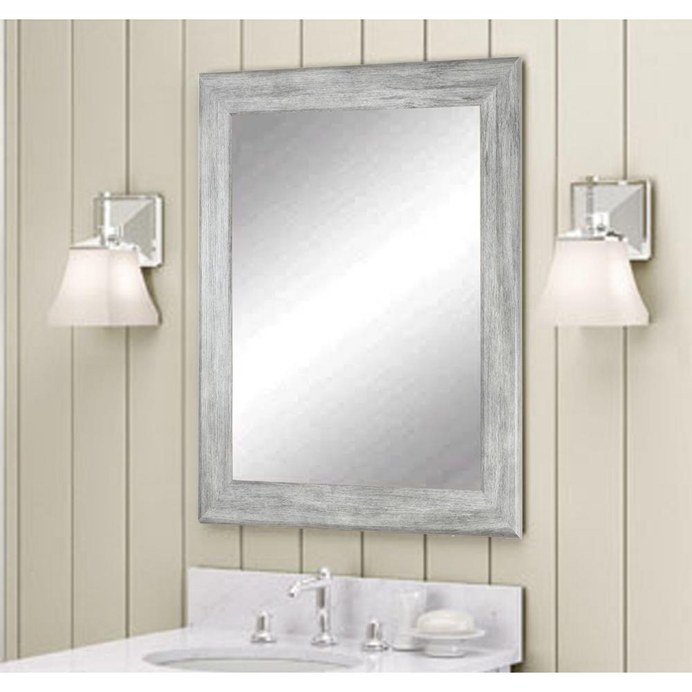 2019 Grey Wall Mirrors Intended For Weathered Gray Wall Mirror (View 17 of 20)