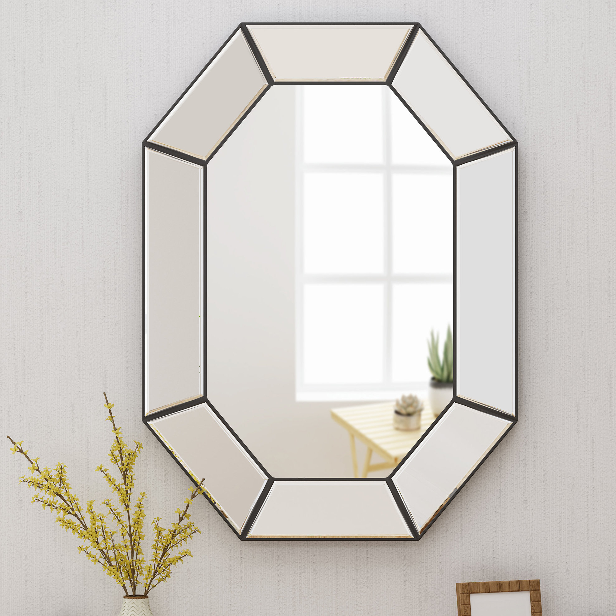 2019 Haverstraw Glam Accent Mirror Intended For Gia Hexagon Accent Mirrors (View 1 of 20)