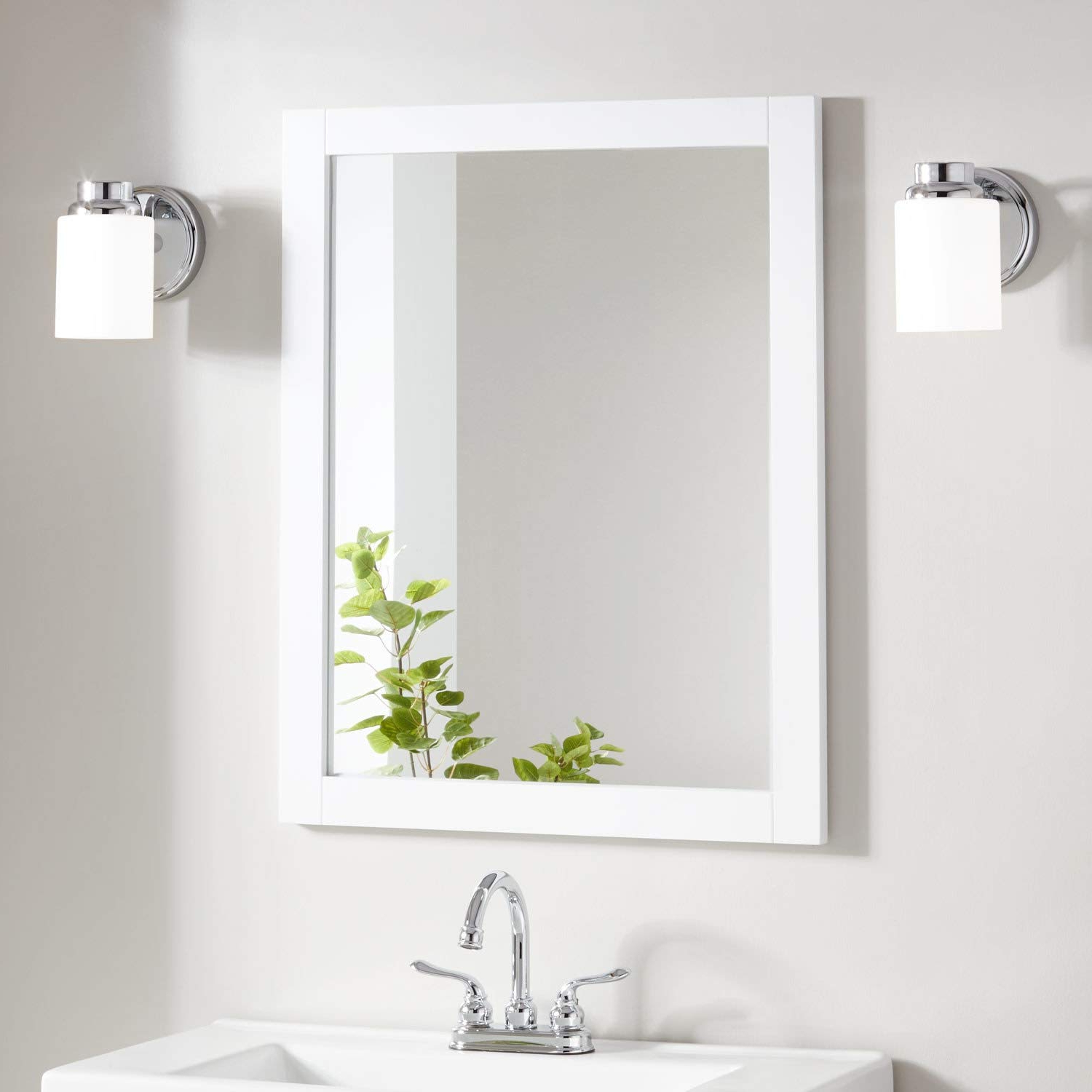"""2019 Hilde Traditional Beveled Bathroom Mirrors With Signature Hardware 404653 Lander 30"""" X 24"""" Framed Bathroom Mirror (View 18 of 20)"""