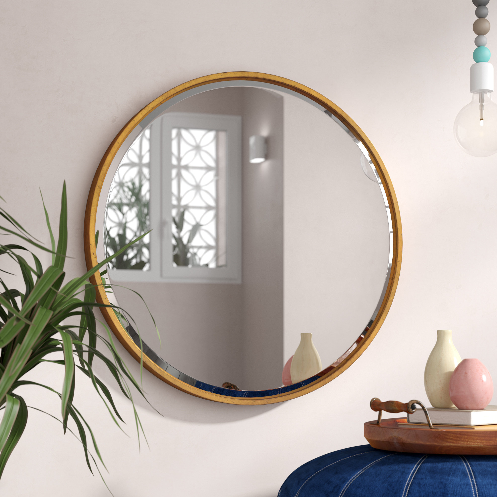 2019 Jamie Modern & Contemporary Beveled Wall Mirror Intended For Mahanoy Modern And Contemporary Distressed Accent Mirrors (View 1 of 20)