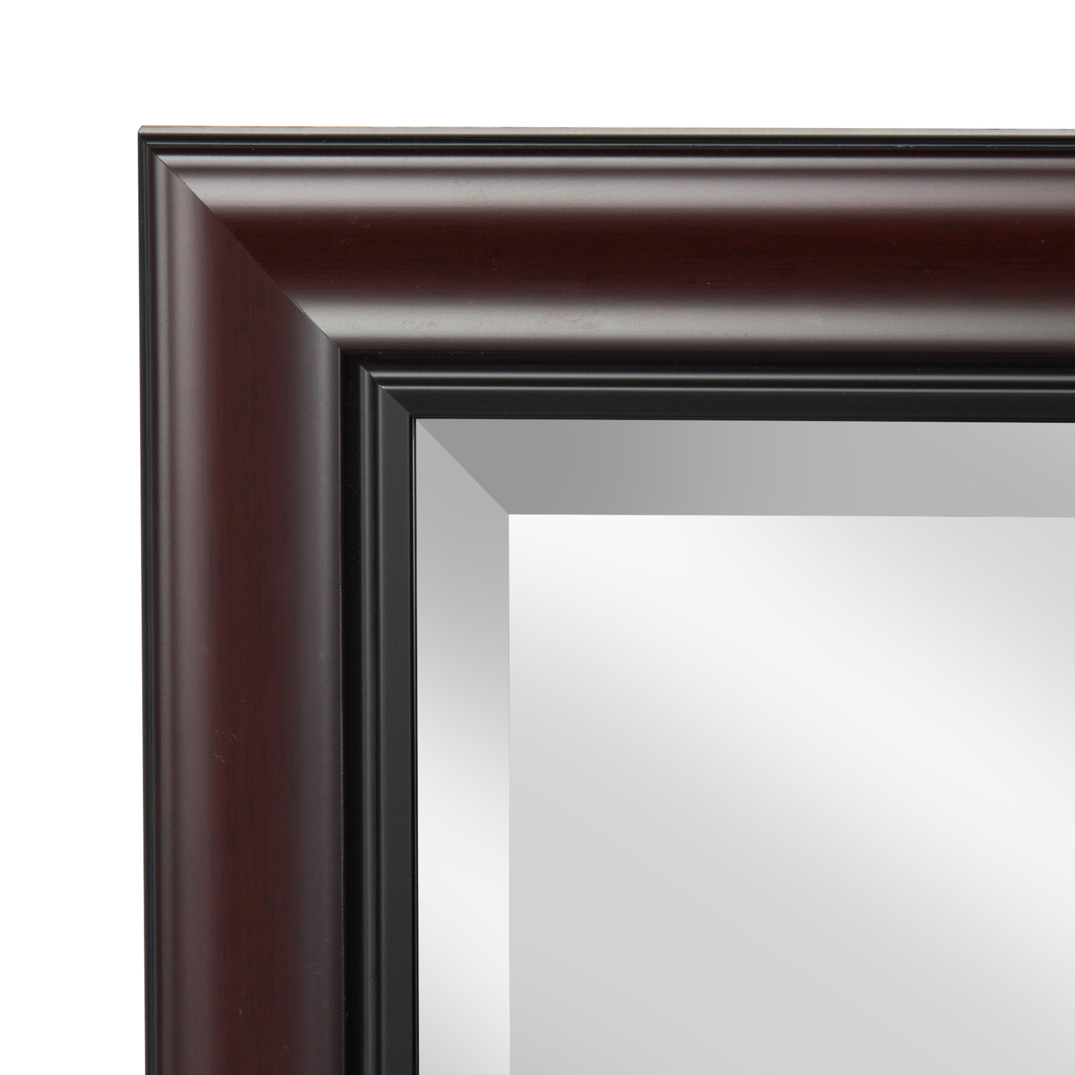 2019 Kate And Laurel Dalat Cherry Framed Beveled Wall Mirror Throughout Cherry Wall Mirrors (View 3 of 20)