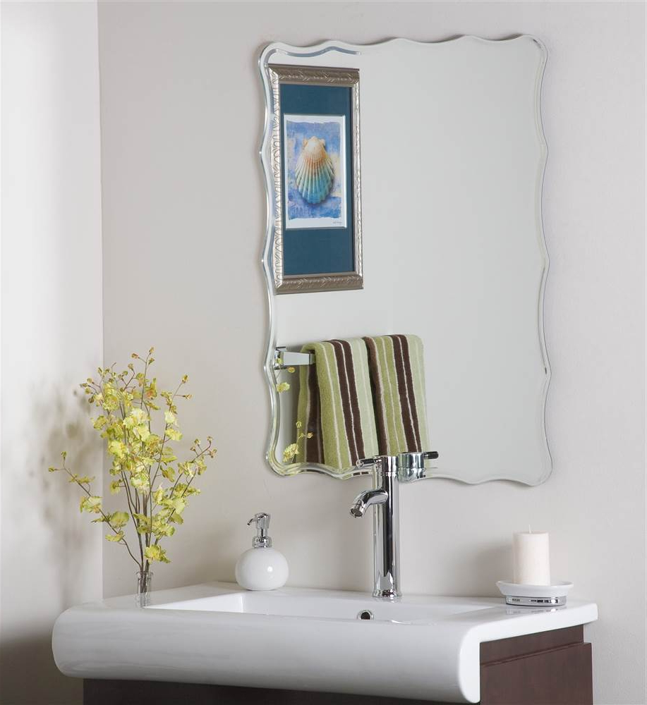 2019 Liana Frameless Wall Mirror With Regard To Kids Wall Mirrors (View 5 of 20)