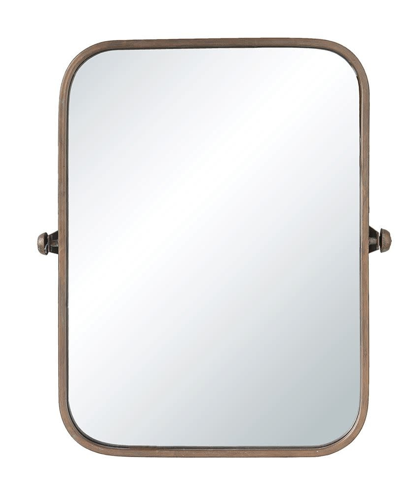 2019 Metal Framed Wall Mirror, Copper Finish With Regard To Metal Framed Wall Mirrors (Gallery 19 of 20)
