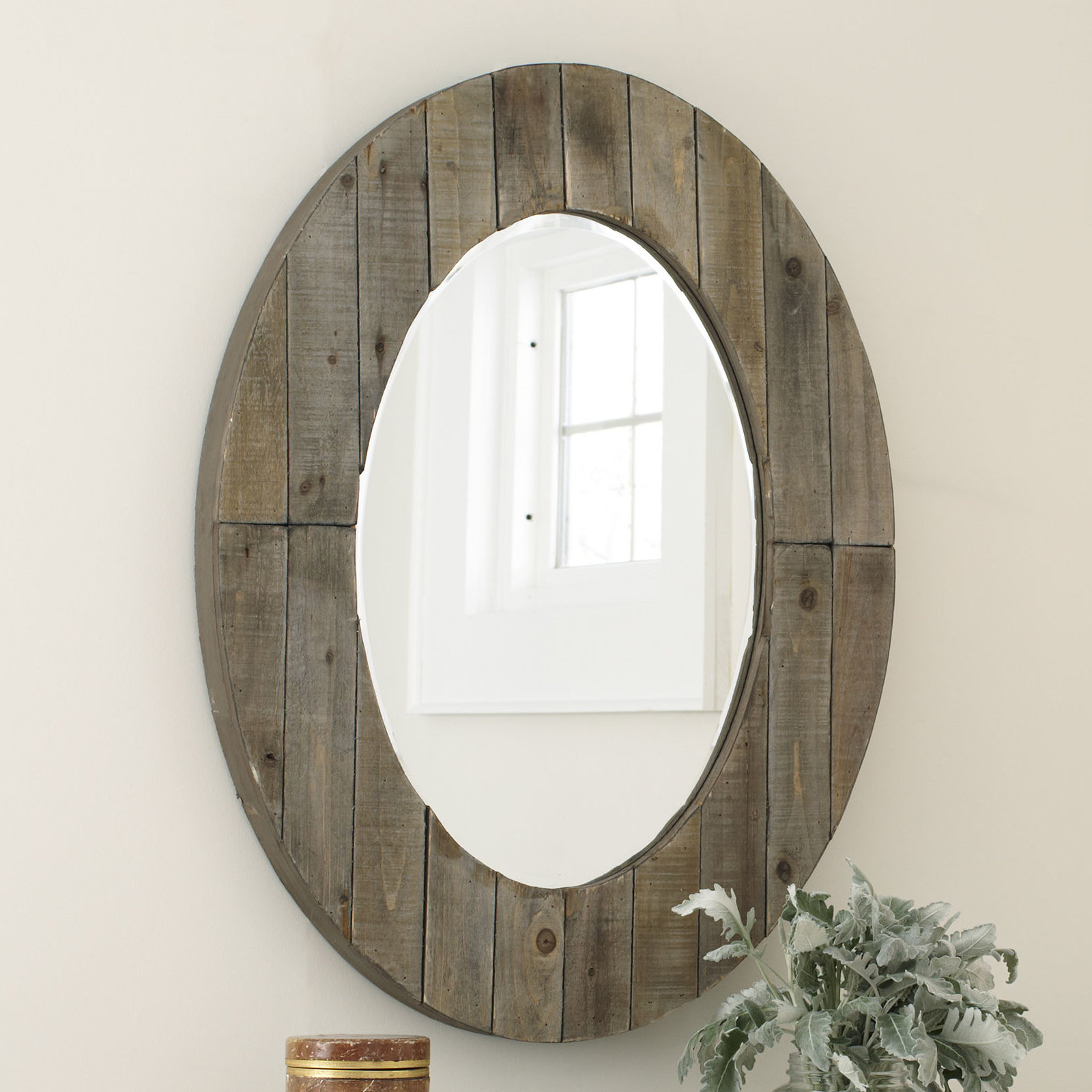 2019 Newson Oval Wall Mirror In Booth Reclaimed Wall Mirrors Accent (View 10 of 20)