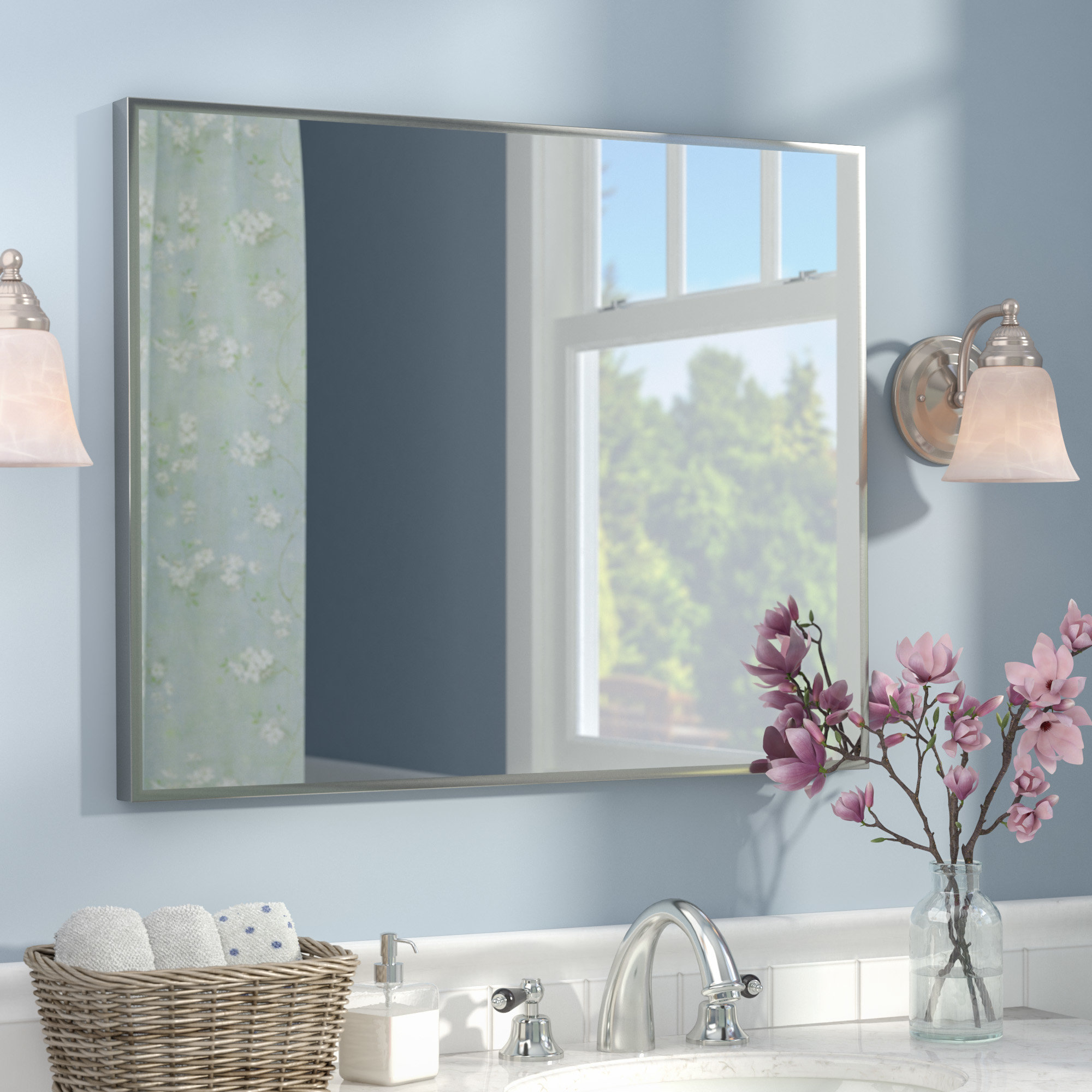 2019 Northend Wall Mirrors In Newland Modern & Contemporary Bathroom/vanity Mirror (View 6 of 20)