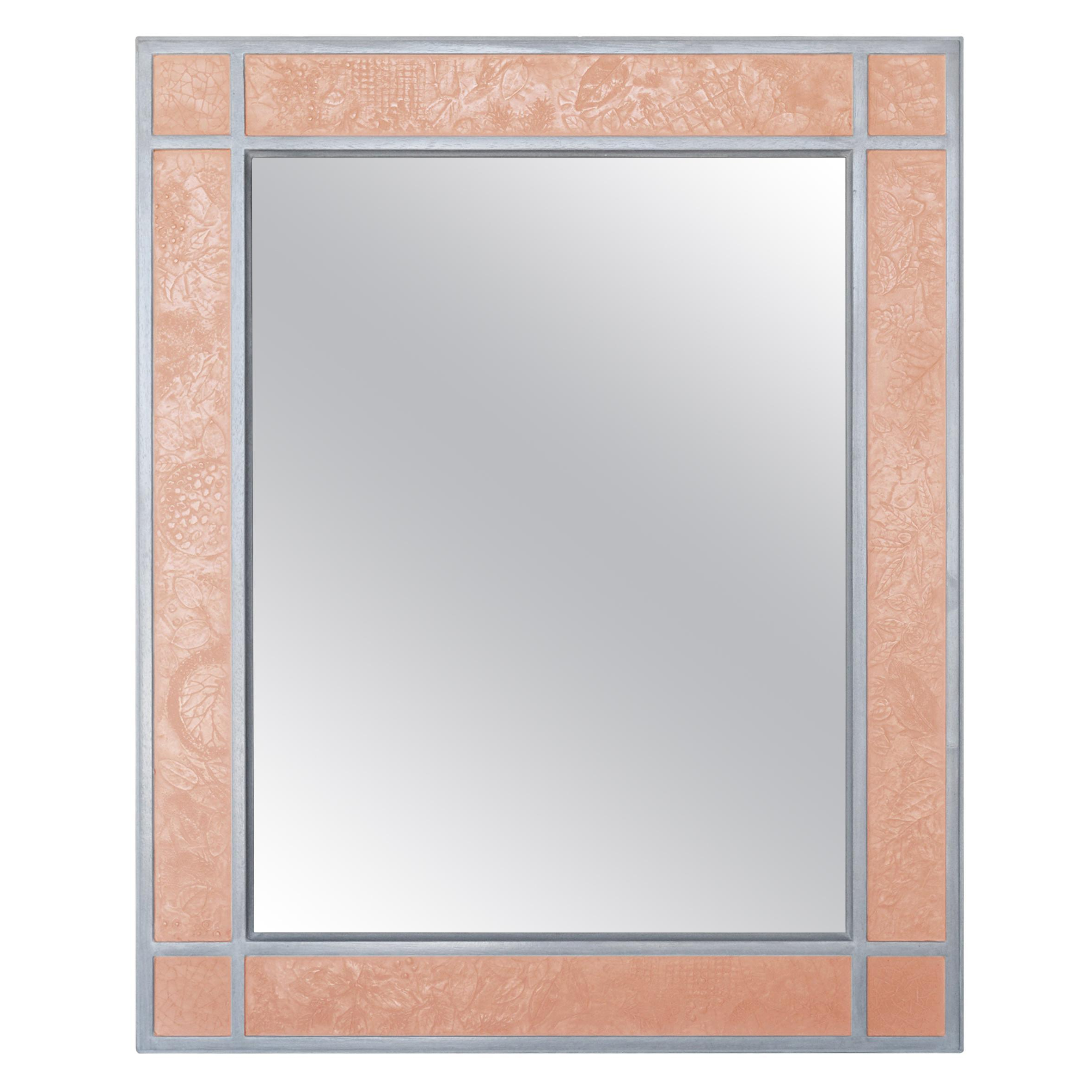 2019 Orange Wall Mirrors Intended For Wall Mirror Artistic Grey Moonstone Ecological Shagreen Decoration Frame (View 14 of 20)