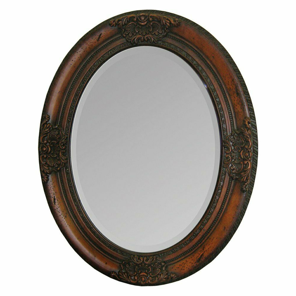 2019 Oval Wood Wall Mirrors With Regard To Ren Wil Hand Carved Solid Wood Wall Mirror – 24w X 30h In (View 7 of 20)