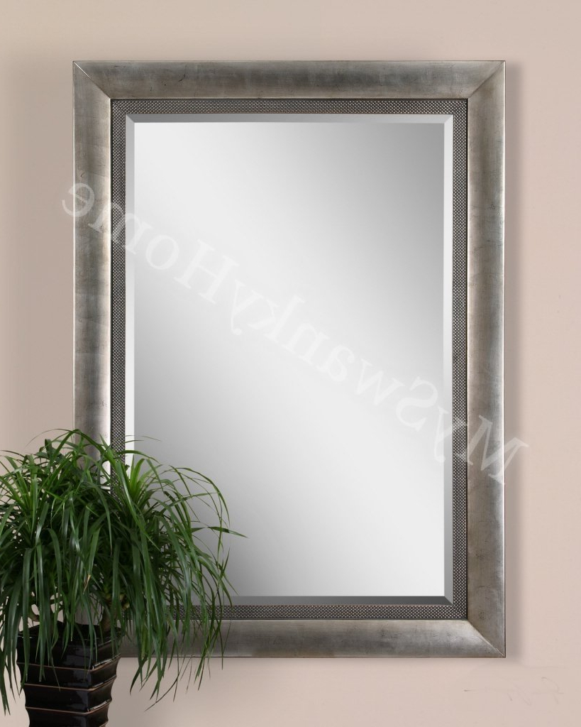 2019 Oversize Wall Mirrors Intended For Amazon: Extra Large Wall Mirror Oversize Silver Contemporary Xl (View 9 of 20)