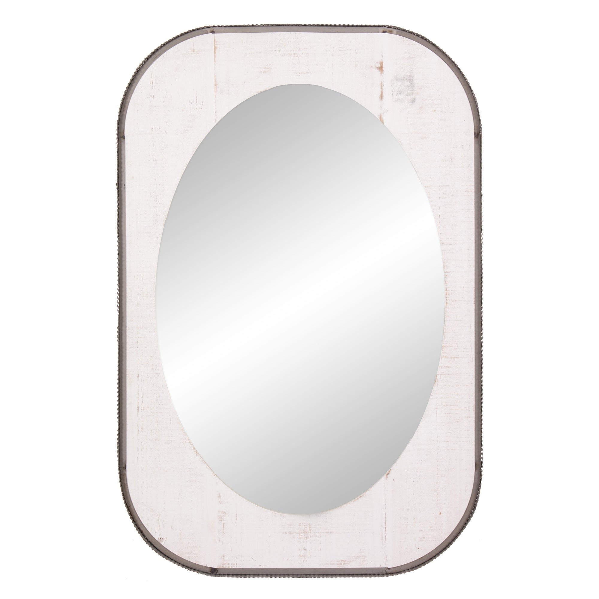 2019 Patton Wall Decor 24x36 Oval Wood And Metal Wall Accent Mirror Inside Oval Metallic Accent Mirrors (View 19 of 20)