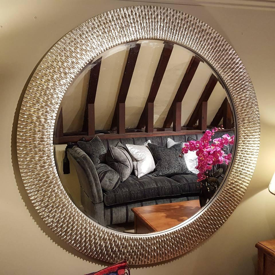 2019 Round Silver Framed Wall Mirror 137Cm With Large Silver Framed Wall Mirror (View 15 of 20)