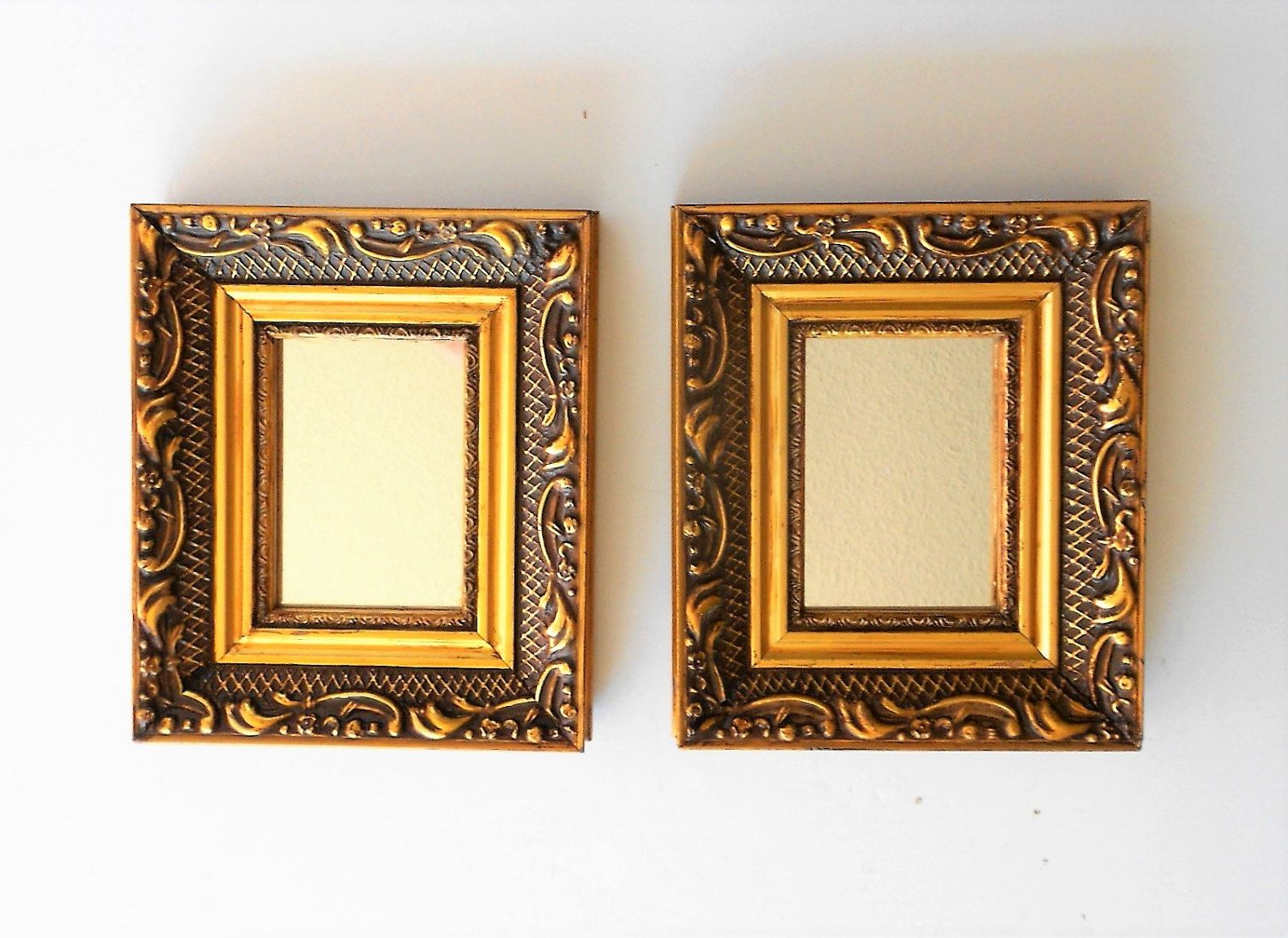 """2019 Small Gold Wall Mirrors In 6.5"""" H, Wall Mirrors Gold, Decorative Mirrors, Small Wall (Gallery 14 of 20)"""