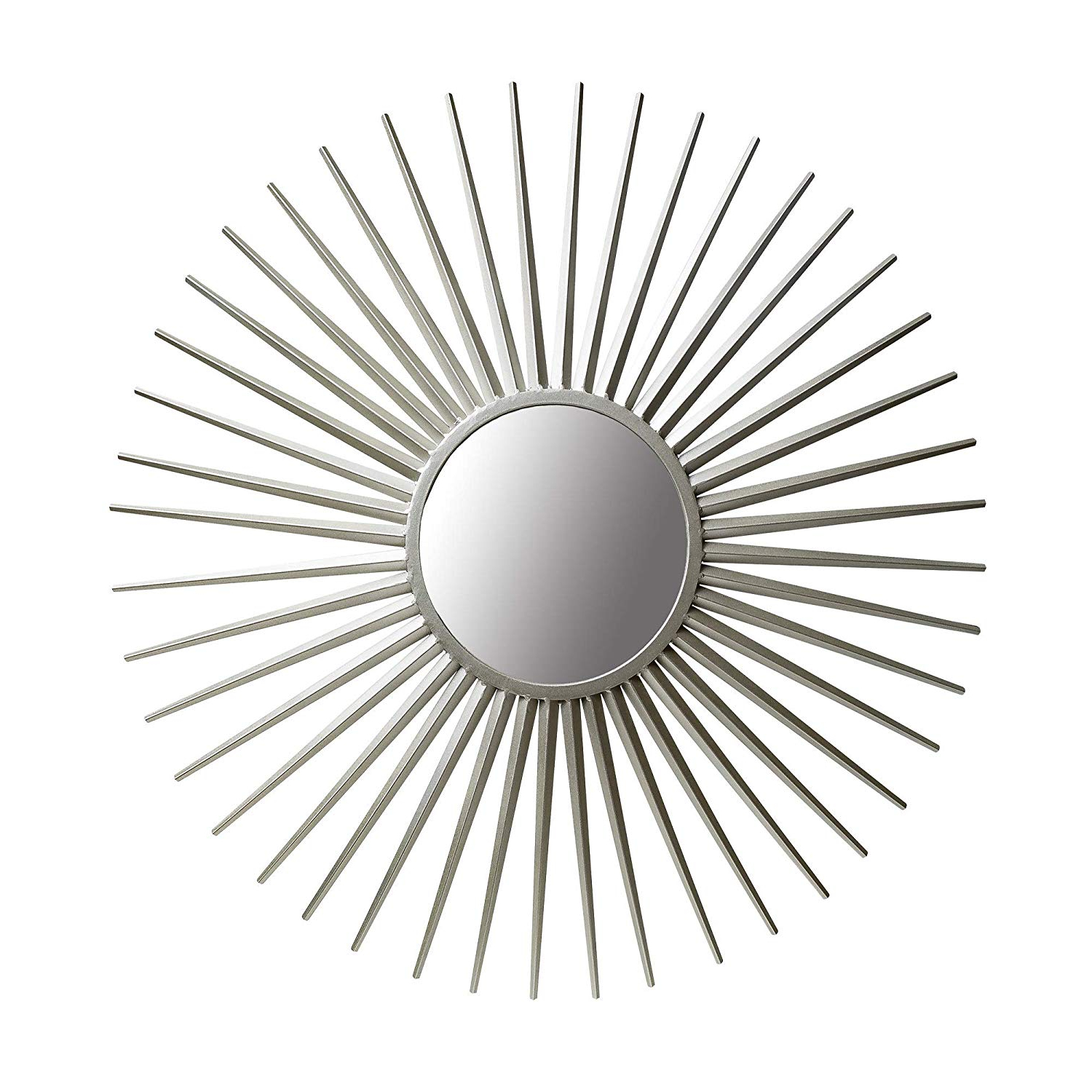 "2019 Sun Ray Wall Mirrors Within 36"" Silver Sunray Wall Accent Mirror (View 1 of 20)"