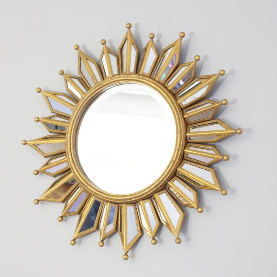 2019 Sunburst Wall Mirrors Within Layered Glass Sunburst Wall Mirror (View 6 of 20)