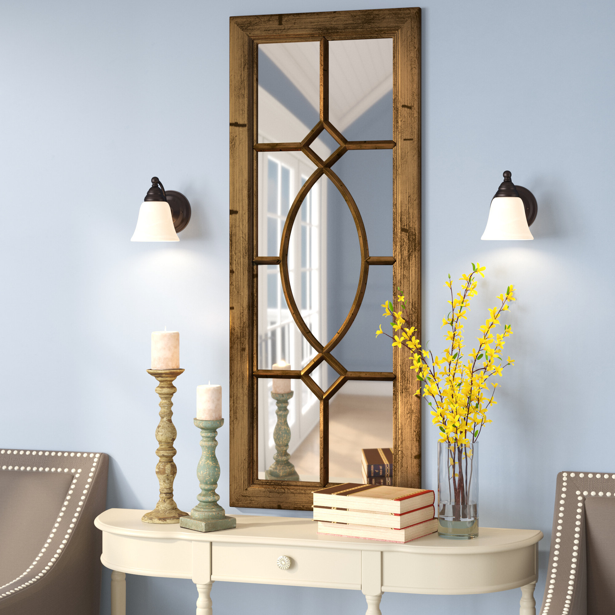 2019 Tellier Accent Wall Mirrors Intended For Spangler Wall Mirror (View 1 of 20)