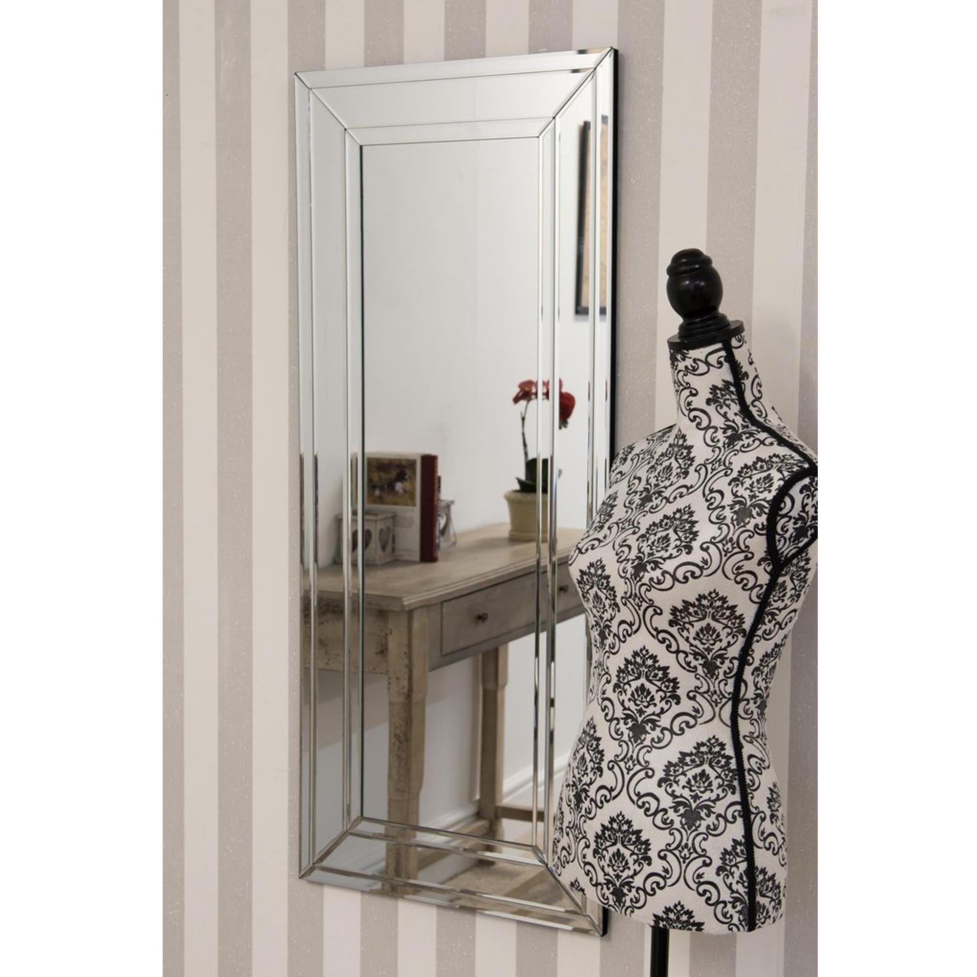 2019 Thin Detailed Venetian Frameless Wall Mirror With Thin Wall Mirrors (View 1 of 20)