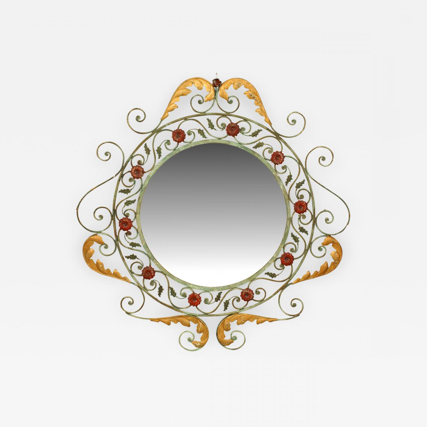 2019 Victorian Wall Mirrors In French Victorian Style Iron Wall Mirror (View 20 of 20)