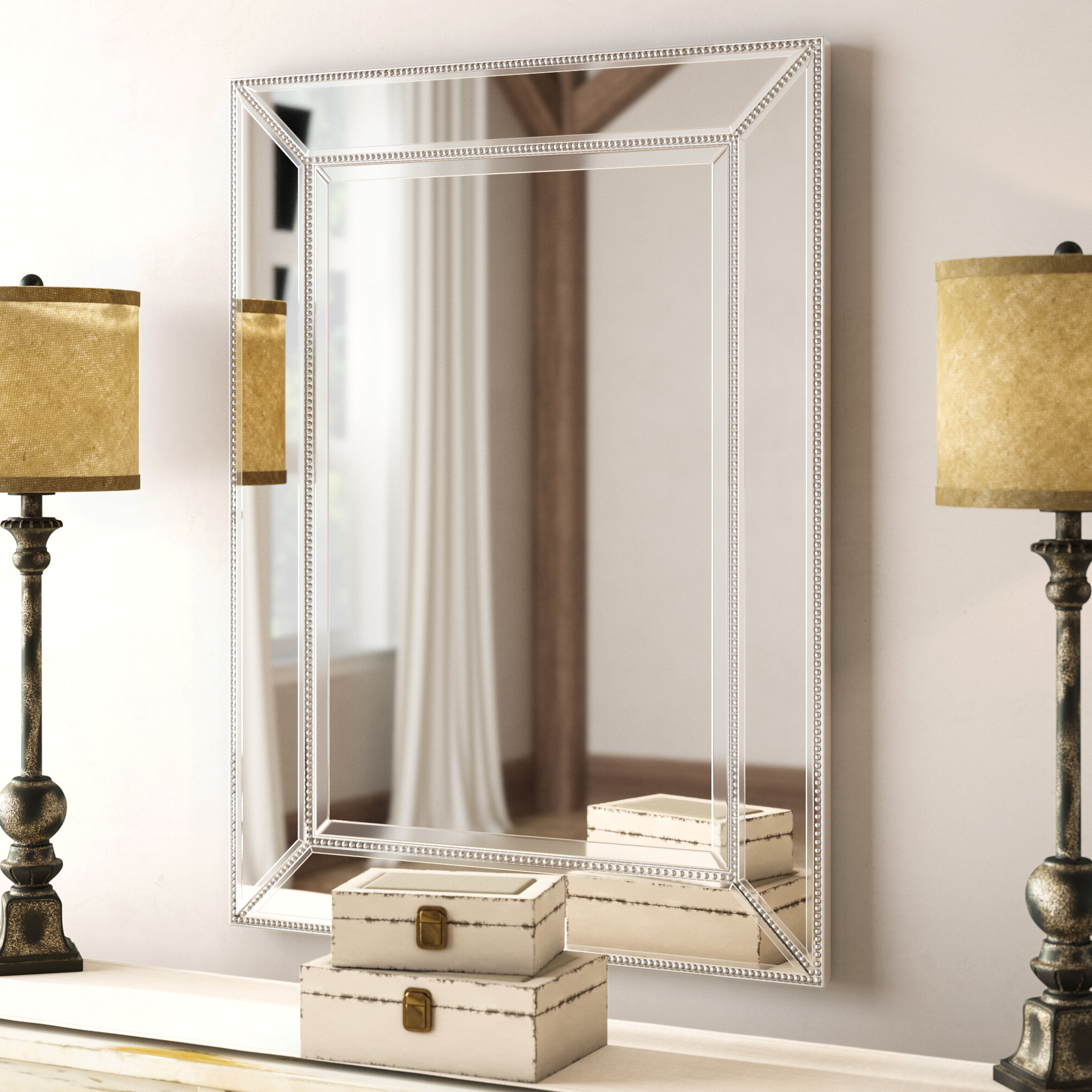 2019 Whimsical Wall Mirrors Within Brayden Beaded Accent Wall Mirror (View 14 of 20)