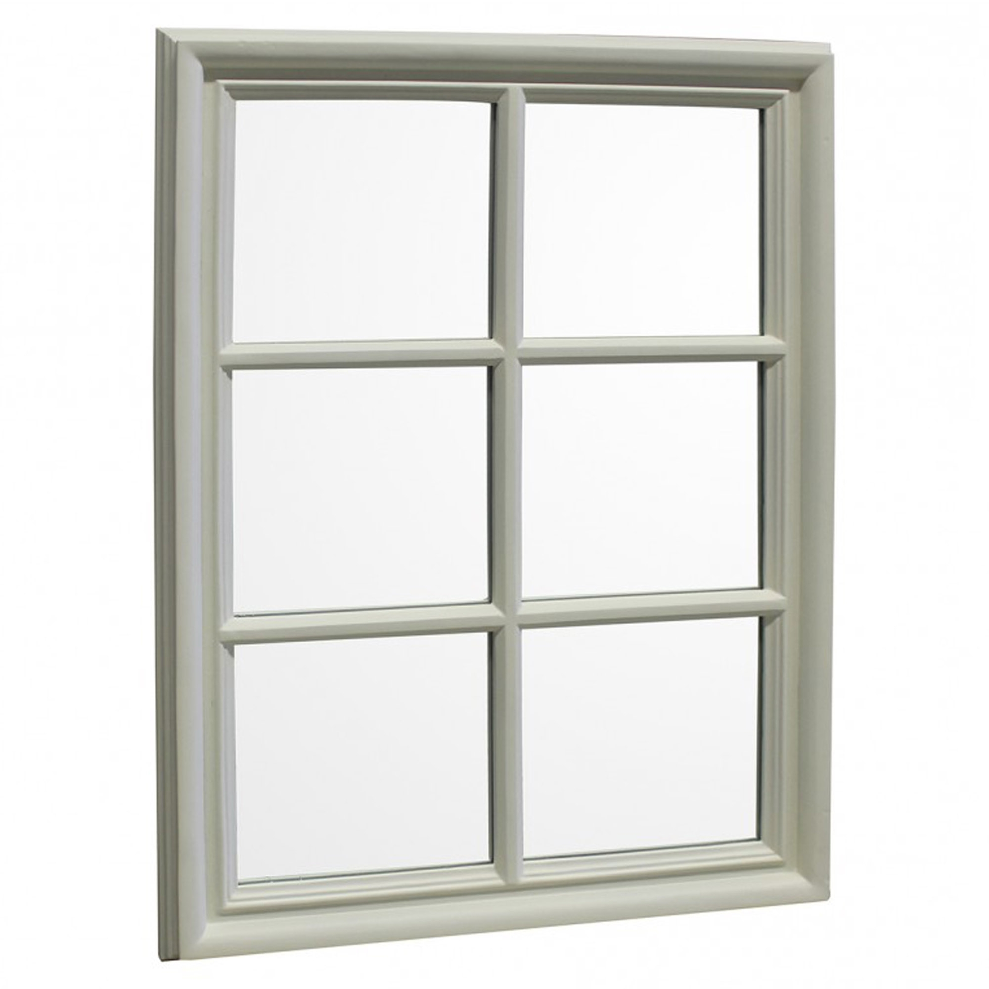 2019 Window Cream Wood Wall Mirrors For Cream Crawford Wall Mirror (View 13 of 20)