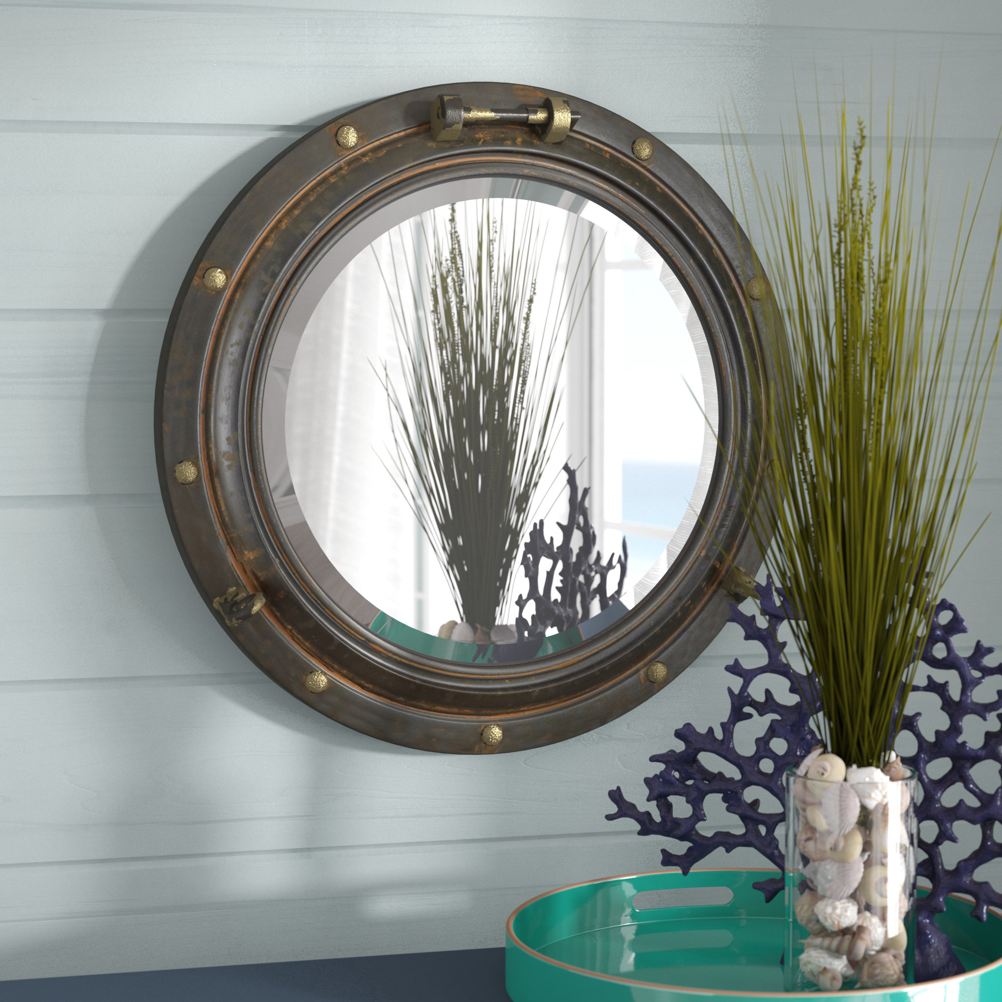 Featured Photo of Alie Traditional Beveled Distressed Accent Mirrors