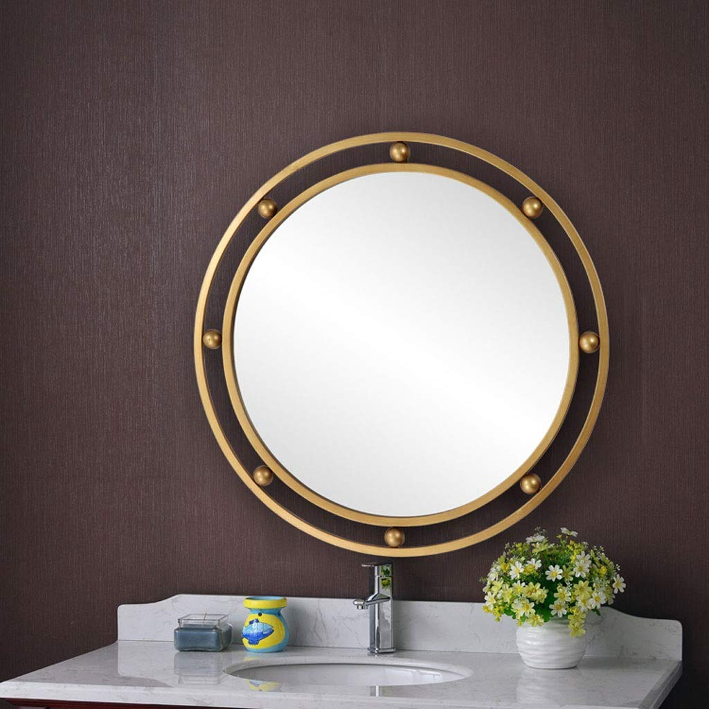 2020 Amazon: Rxy Mirror Nordic Indoor Living Room Golden Within Wrought Iron Wall Mirrors (View 18 of 20)