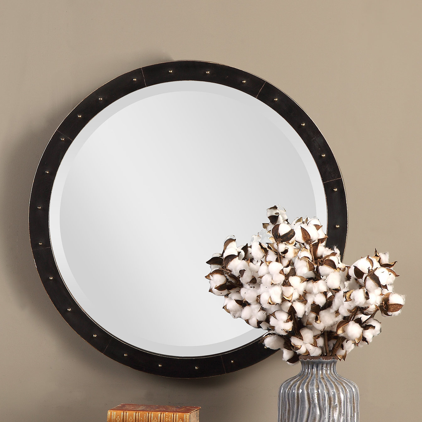 2020 Austin Industrial Accent Mirrors With Regard To Burt Round Industrial Accent Mirror (View 1 of 20)