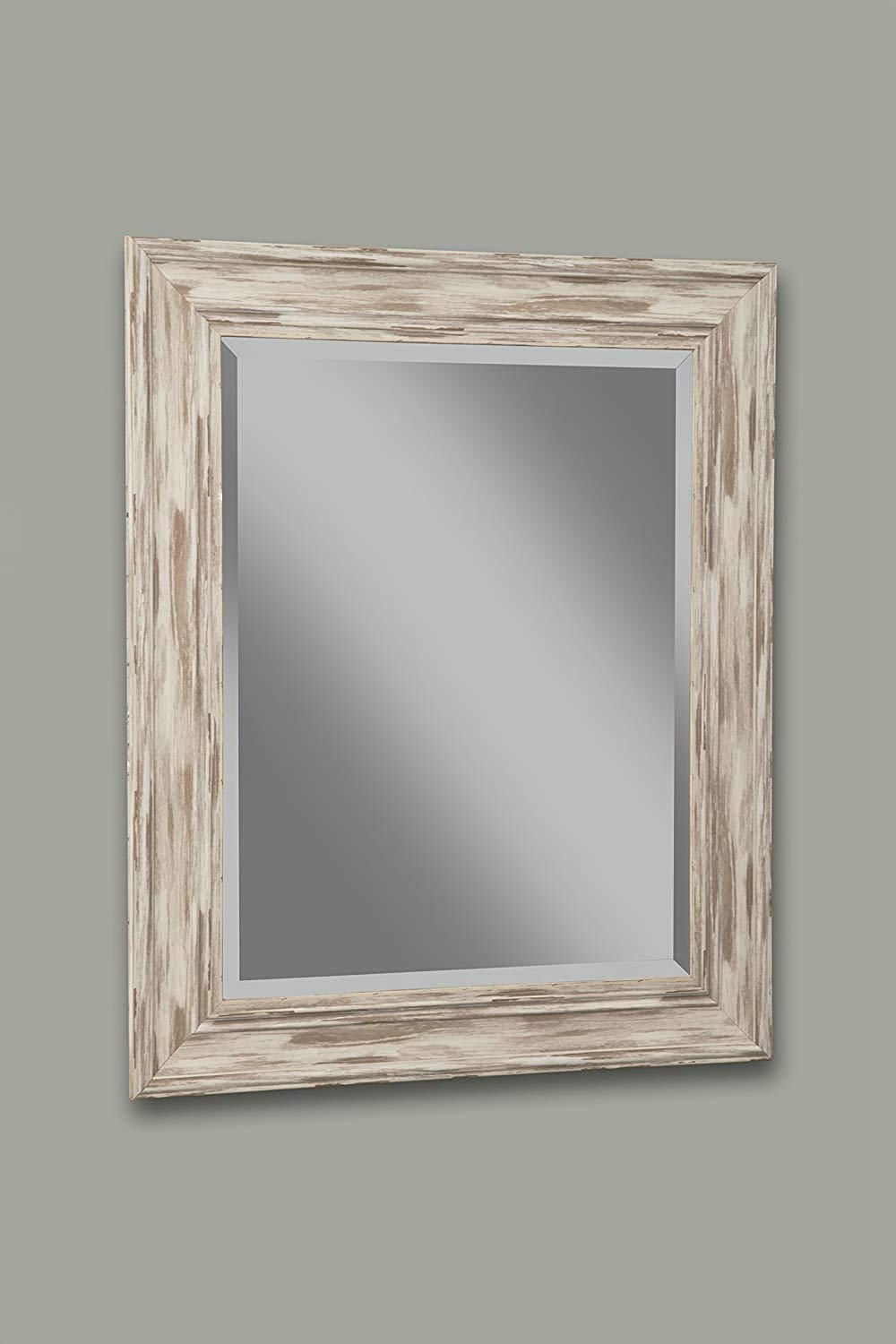 2020 Bartolo Accent Mirrors Regarding Polystyrene Framed Wall Mirror With Sharp Edges, Antique White In (View 8 of 20)