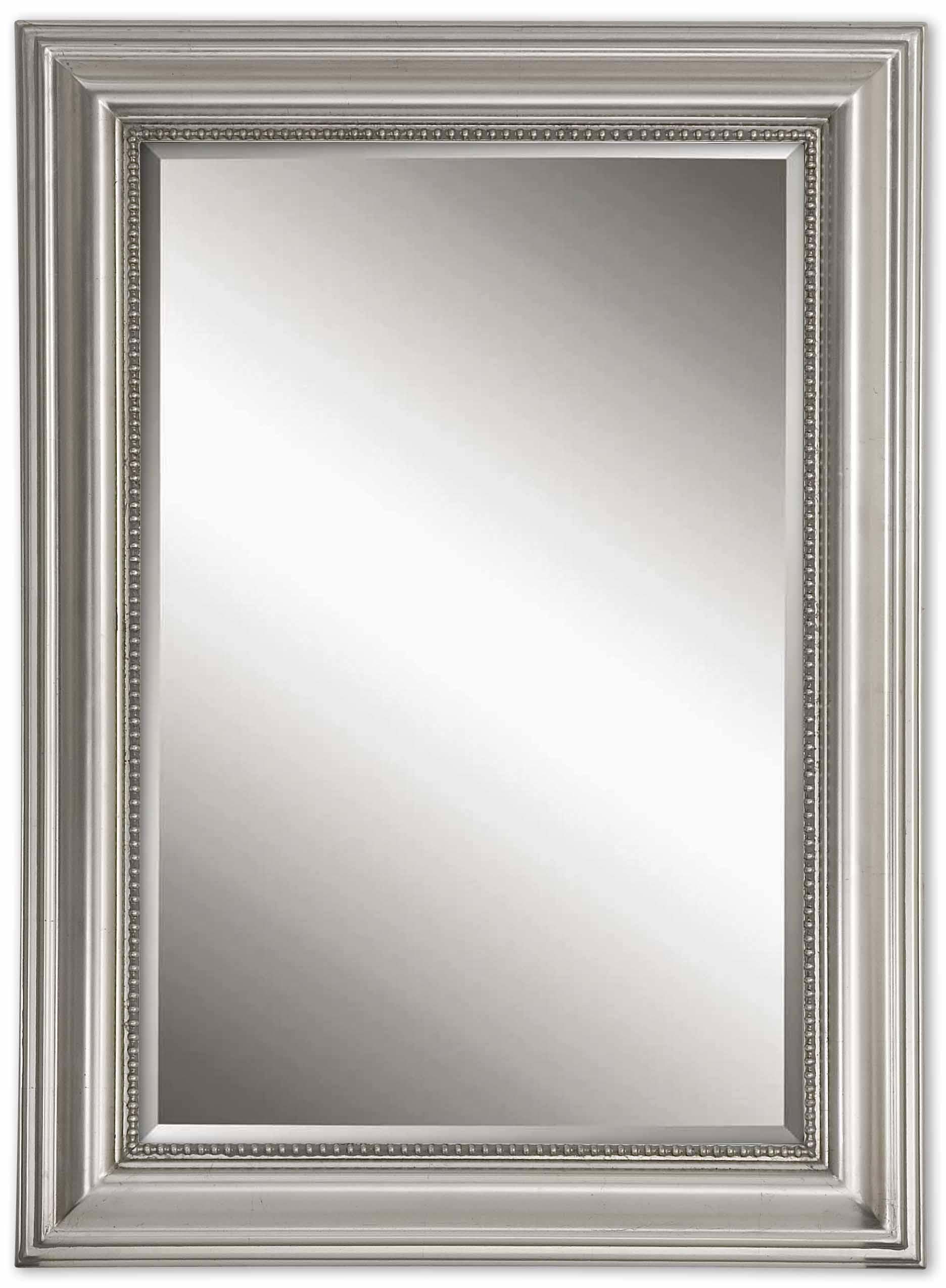2020 Beaded Wall Mirrors Regarding Stuart Silver Beaded Wall Mirroruttermost – 27″ X 37″ (View 18 of 20)