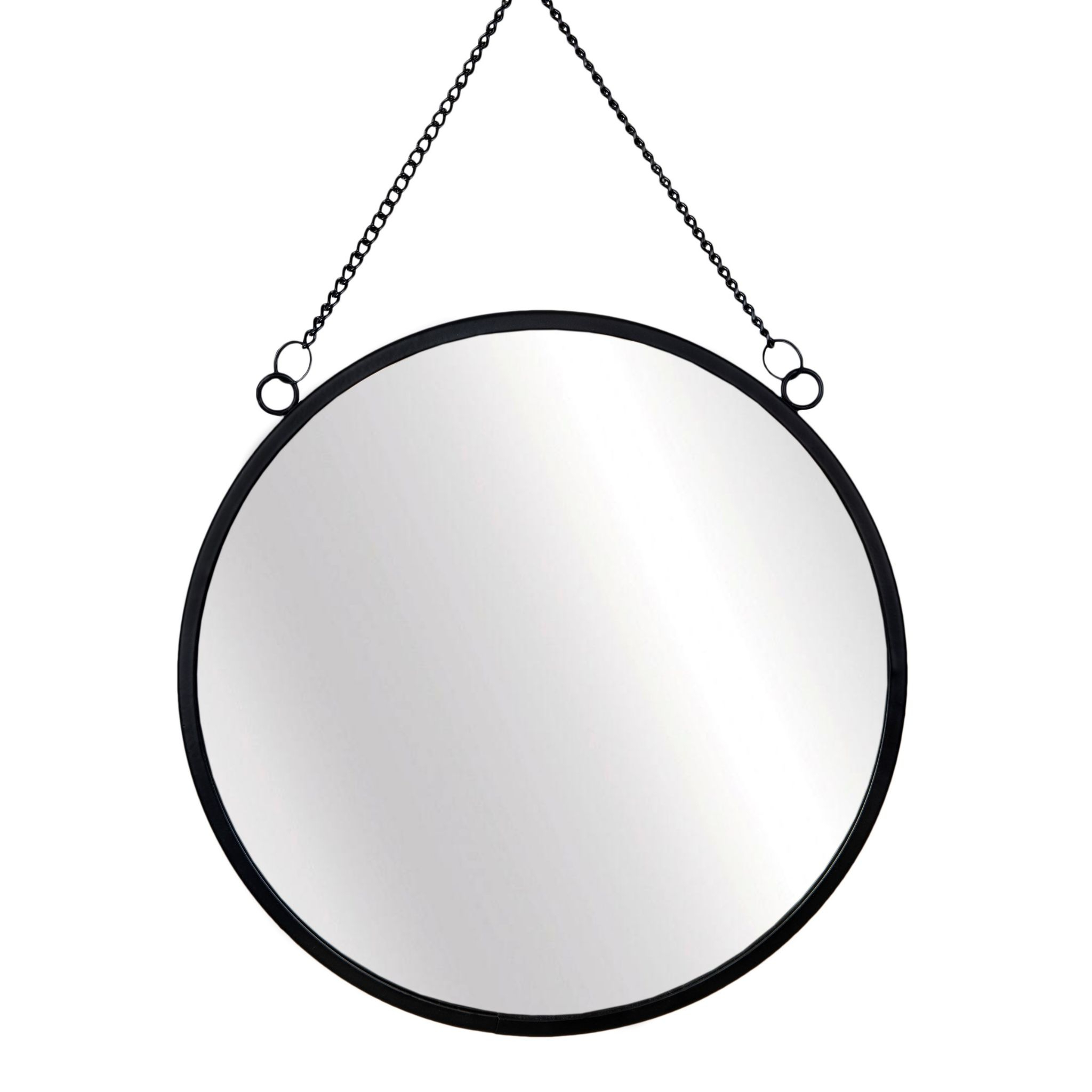 2020 Black Round Wall Mirror Intended For Black Round Wall Mirrors (View 11 of 20)
