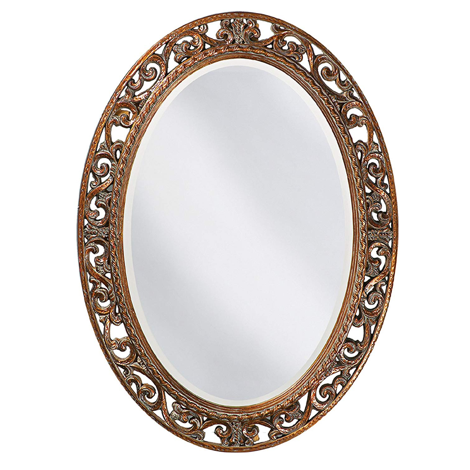 2020 Bracelet Traditional Accent Mirrors Intended For Howard Elliott Suzanne Mirror, Oval Antique Gold Leaf, Resin Frame (View 8 of 20)