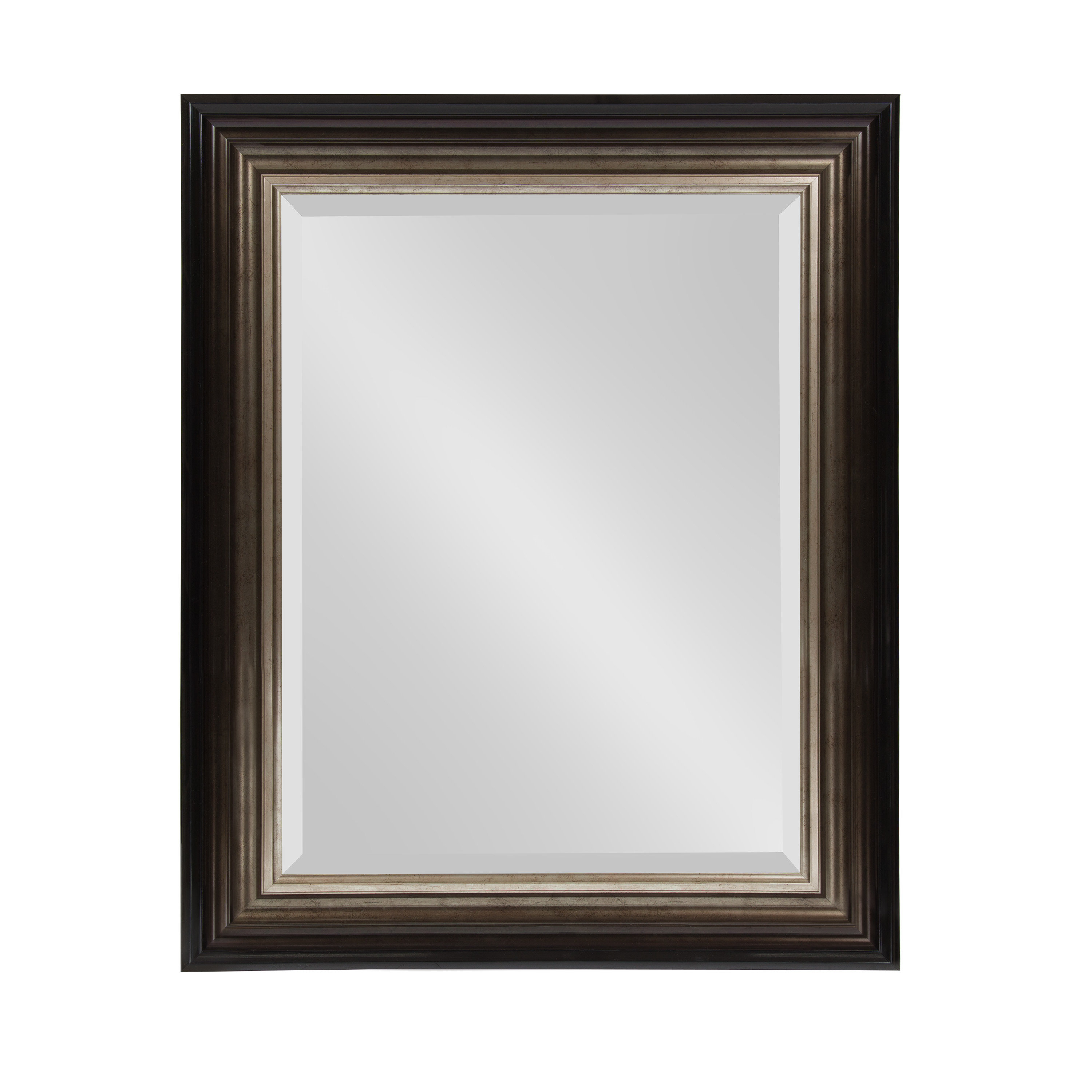 2020 Charlton Home Saltford Framed Rectangle Accent Mirror For Kristy Rectangular Beveled Vanity Mirrors In Distressed (View 1 of 20)
