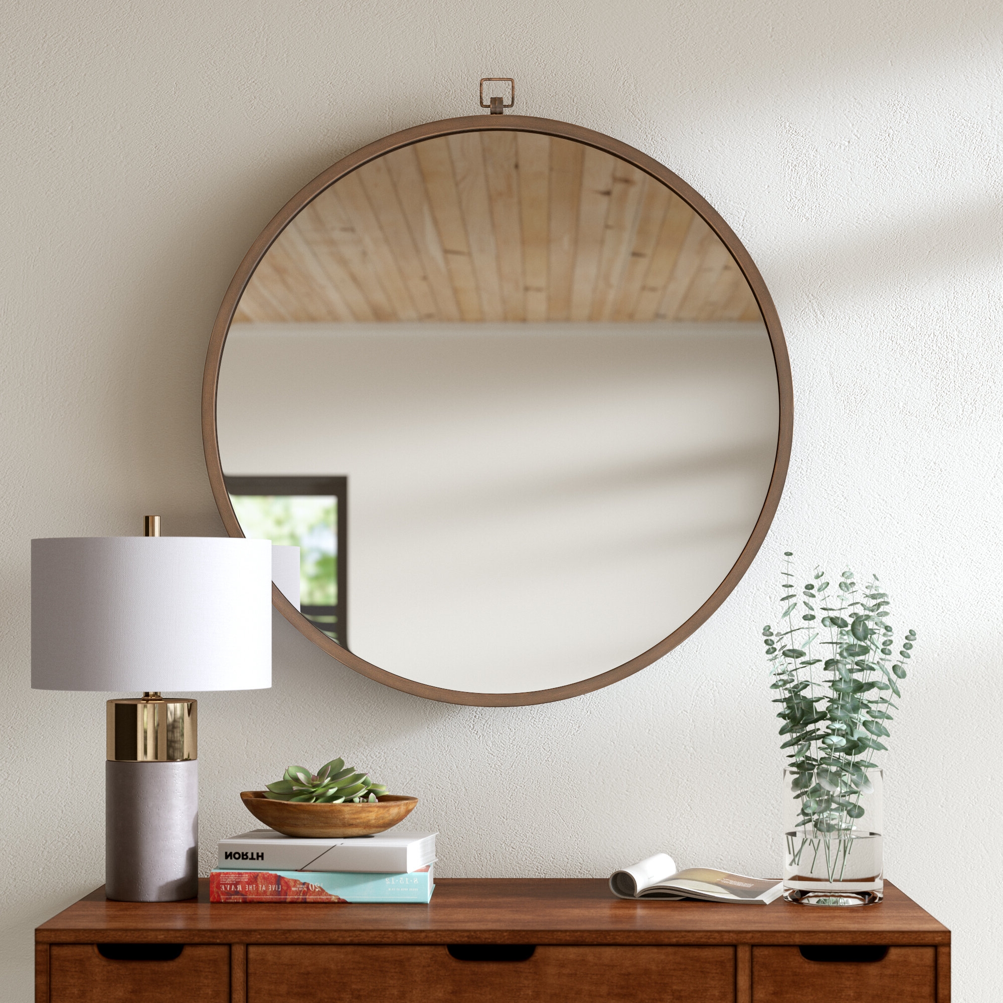 2020 Colton Modern & Contemporary Wall Mirrors In Modern & Contemporary 36 Inch Round Mirror (View 16 of 20)