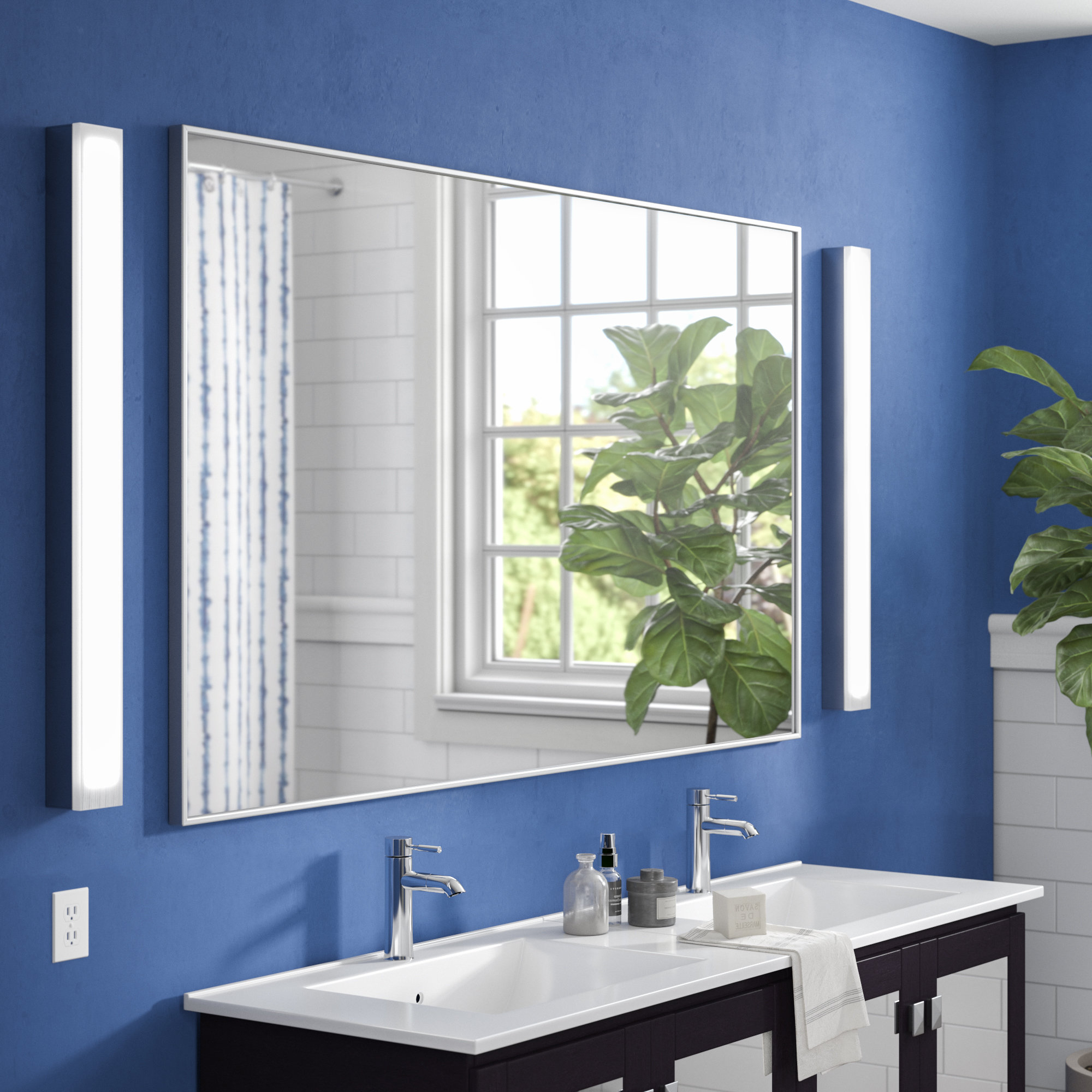 2020 Contemporary Bathroom Wall Mirrors With Tinney Modern & Contemporary Bathroom/ Vanity Mirror (View 3 of 20)